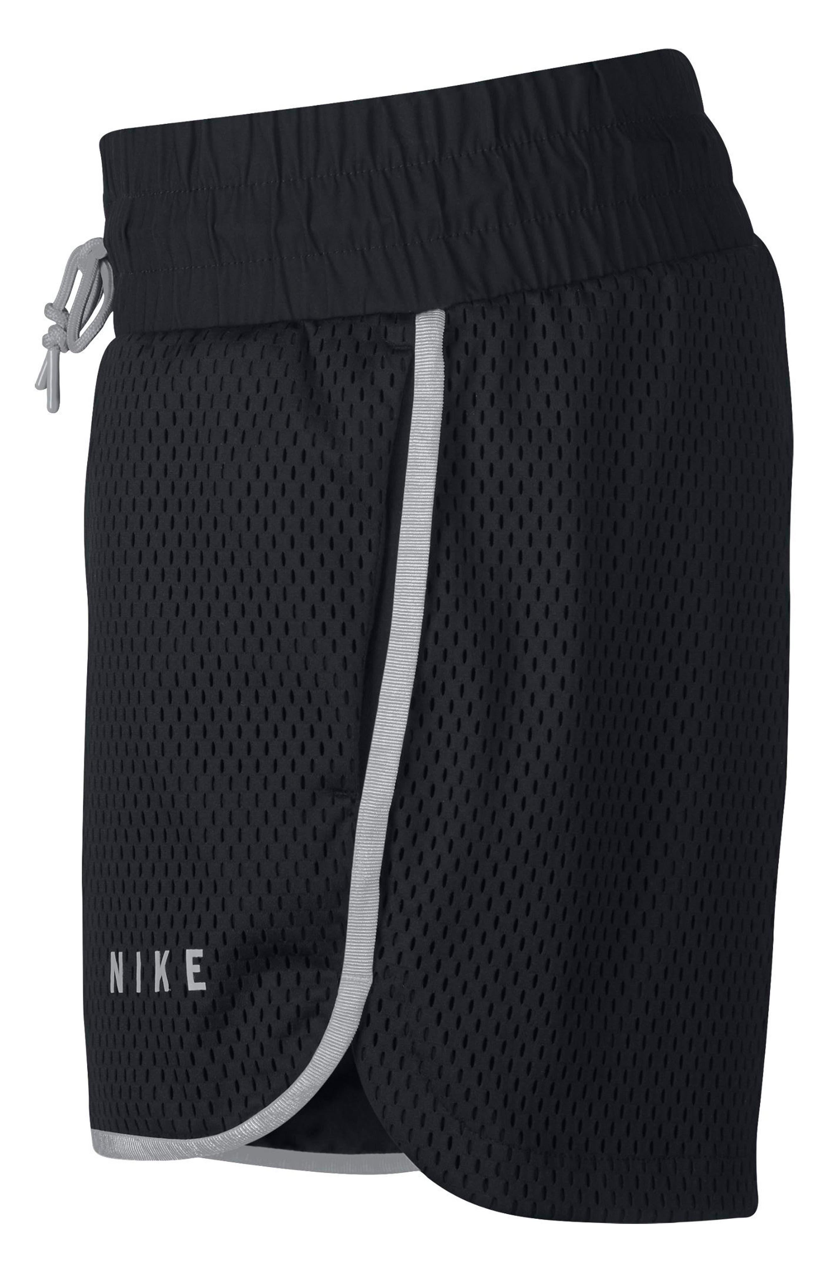 Sportswear Women's Dri-FIT Mesh Shorts,                             Alternate thumbnail 9, color,                             BLACK/ LIGHT BONE