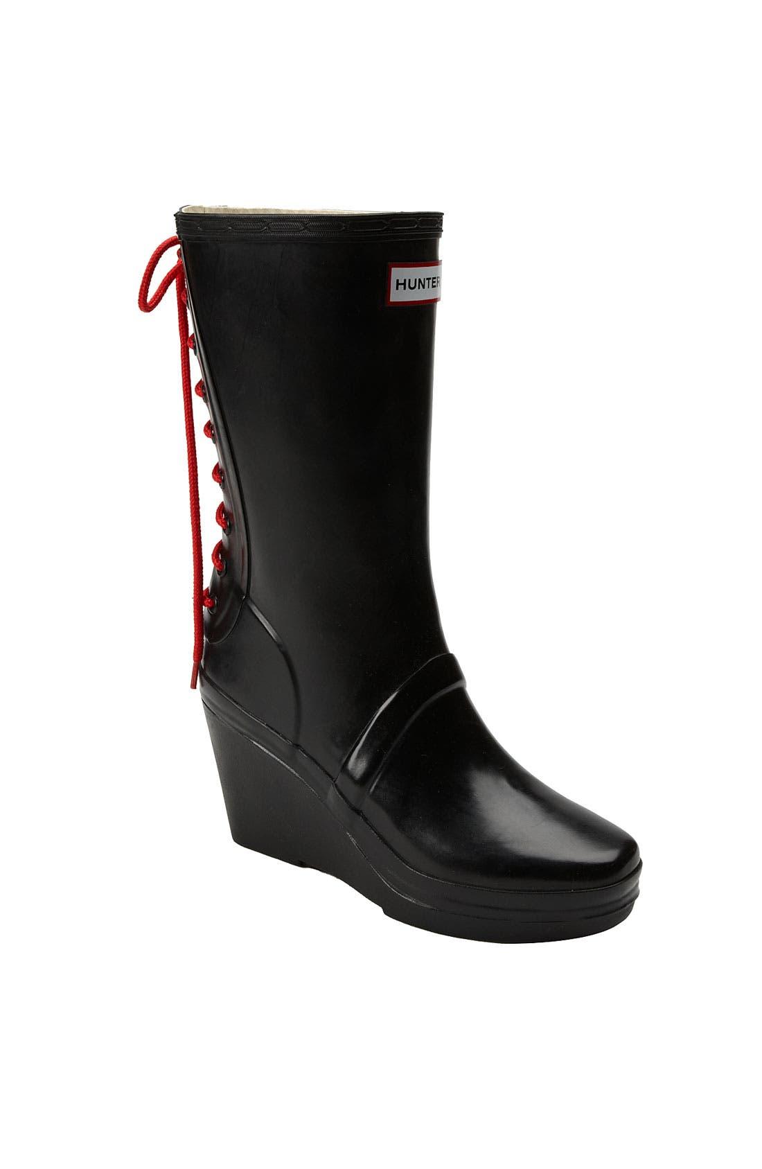 HUNTER,                             'Verbier' Rain Boot,                             Main thumbnail 1, color,                             001