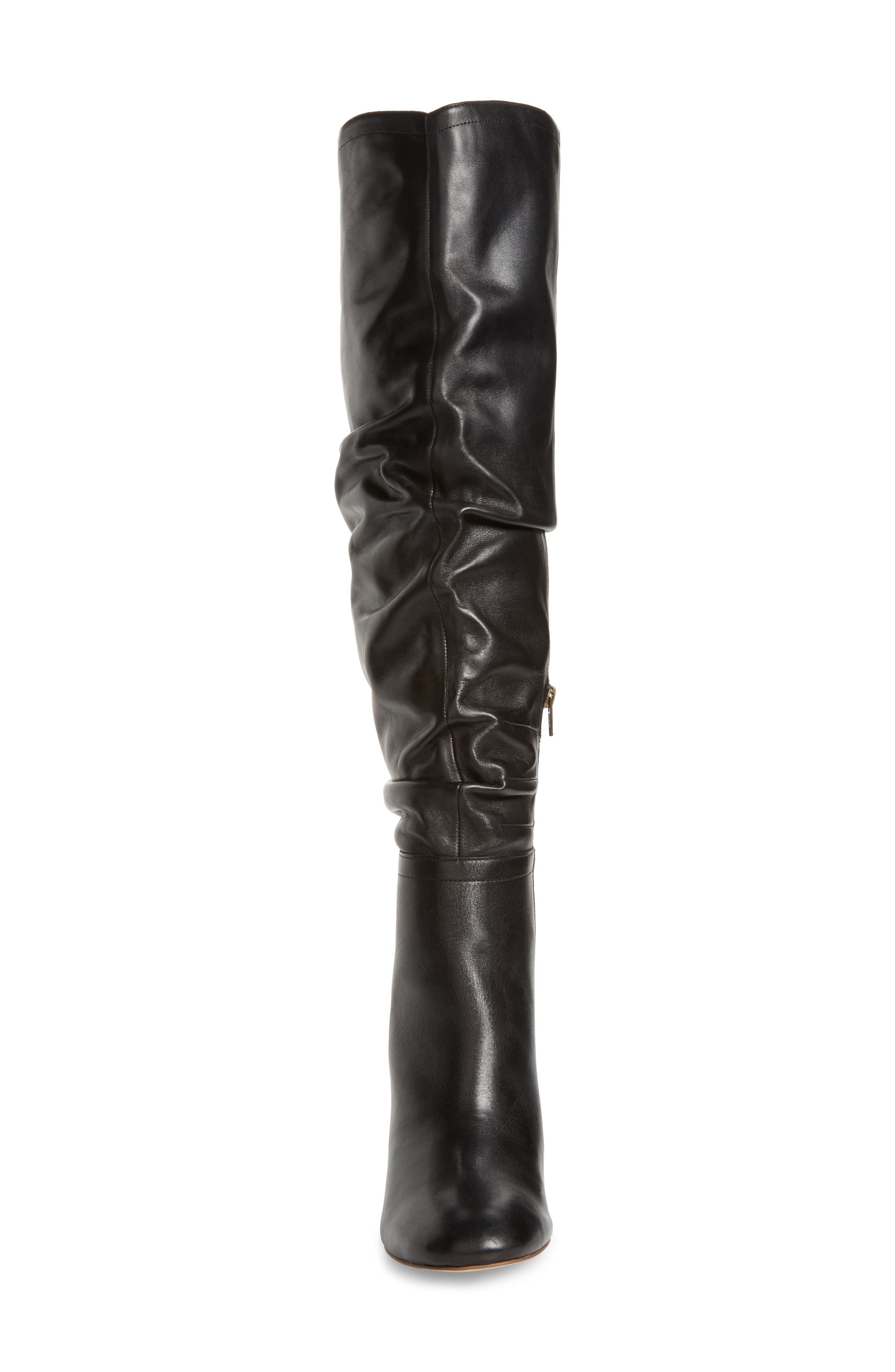 Bali Slouchy Over the Knee Boot,                             Alternate thumbnail 4, color,                             001