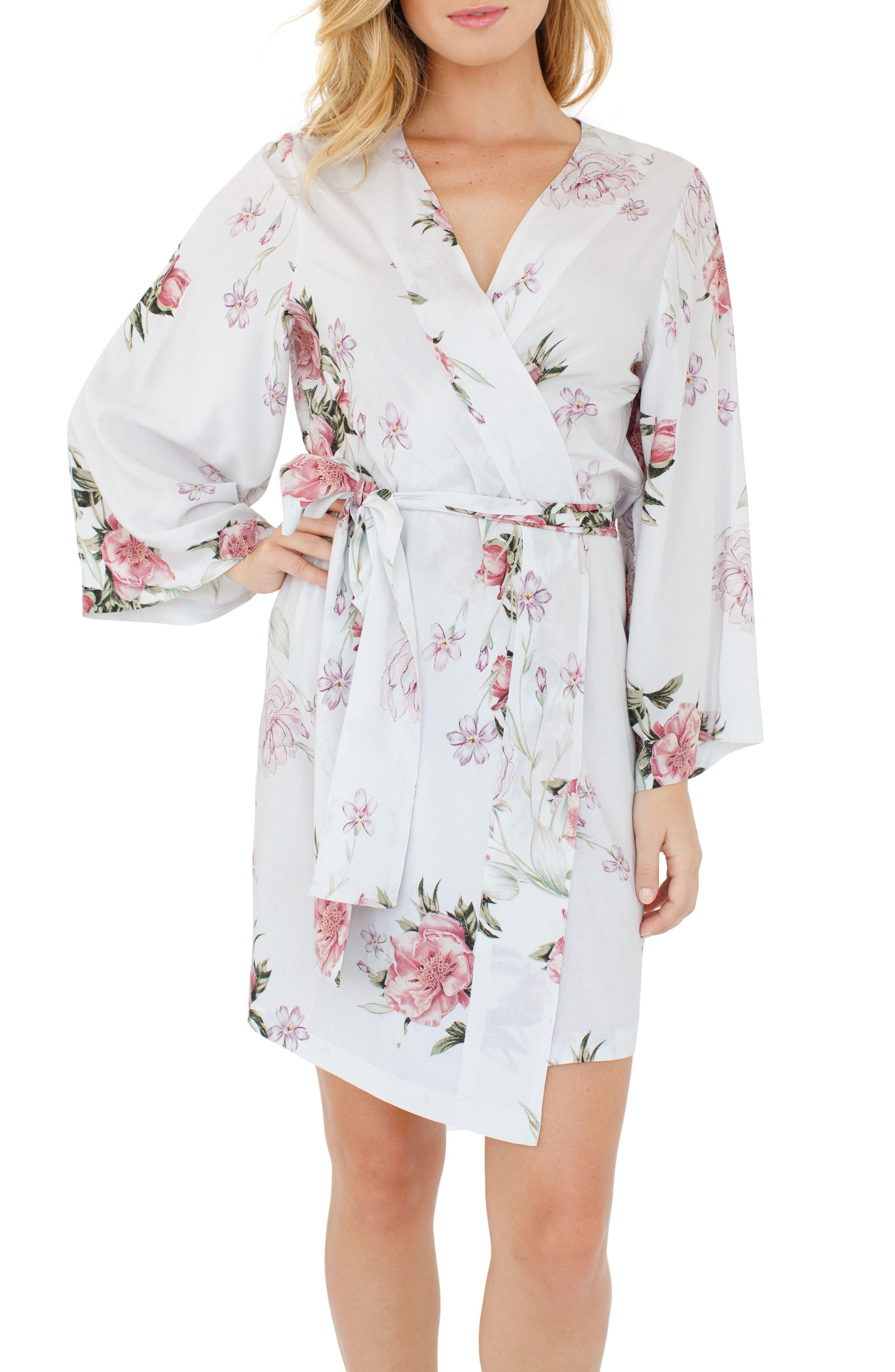 Floral Kimono Robe,                             Main thumbnail 3, color,