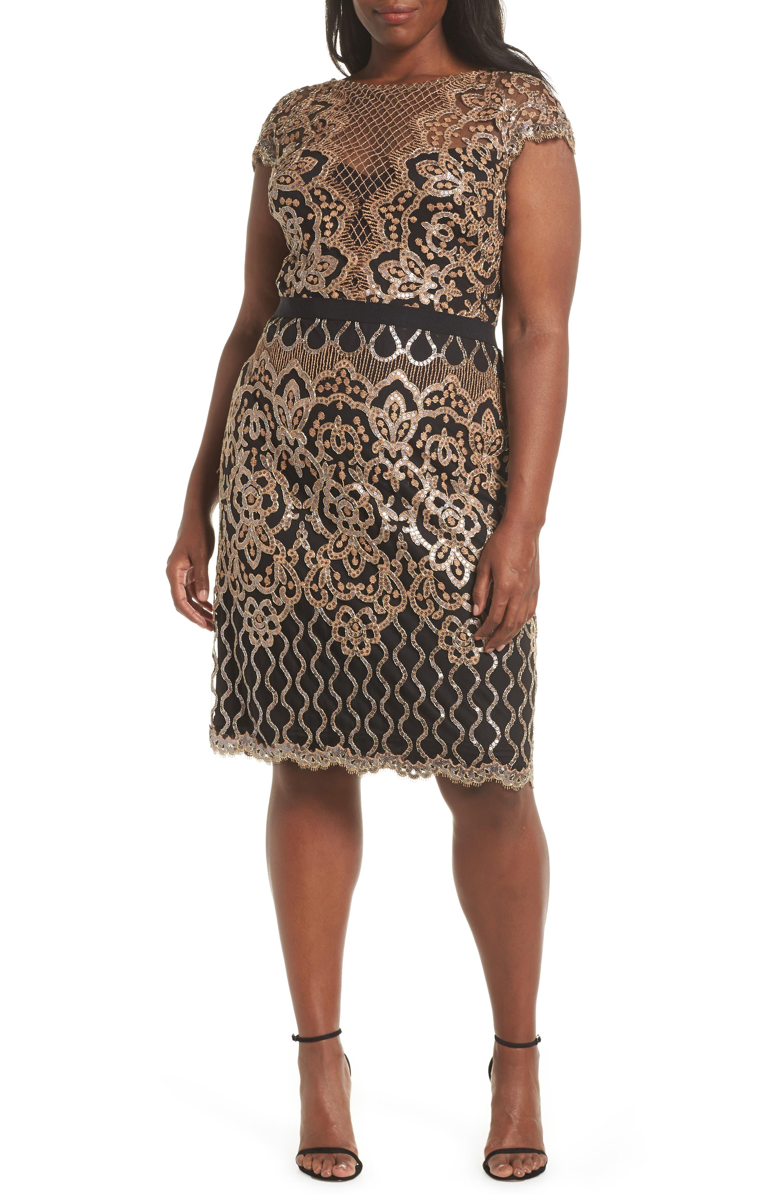 Sequin Embellished Dress,                             Alternate thumbnail 2, color,                             COPPER SHADOW/ BLACK