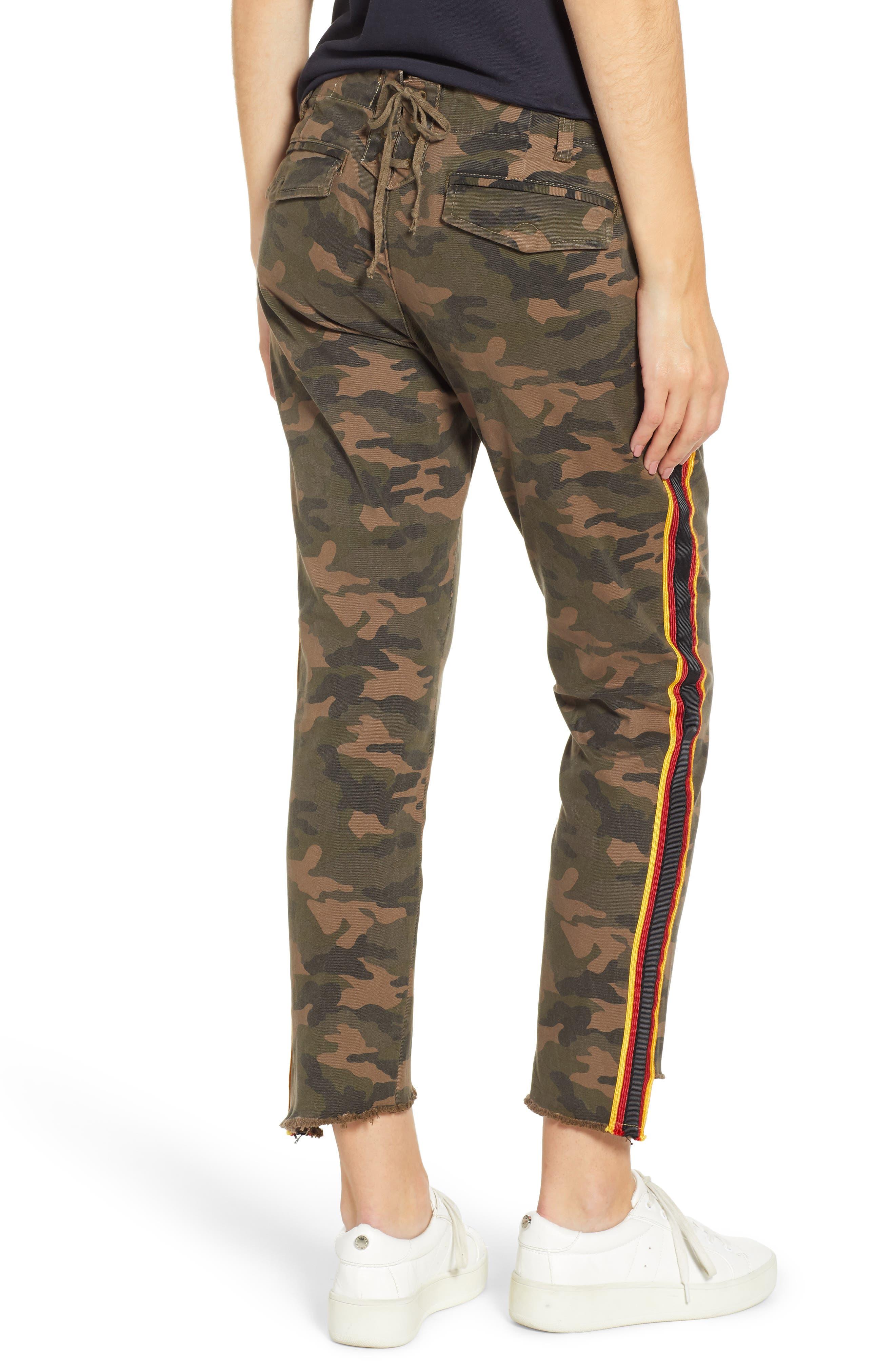 Uniform Stripe Step Hem Pants,                             Alternate thumbnail 2, color,                             ARMY