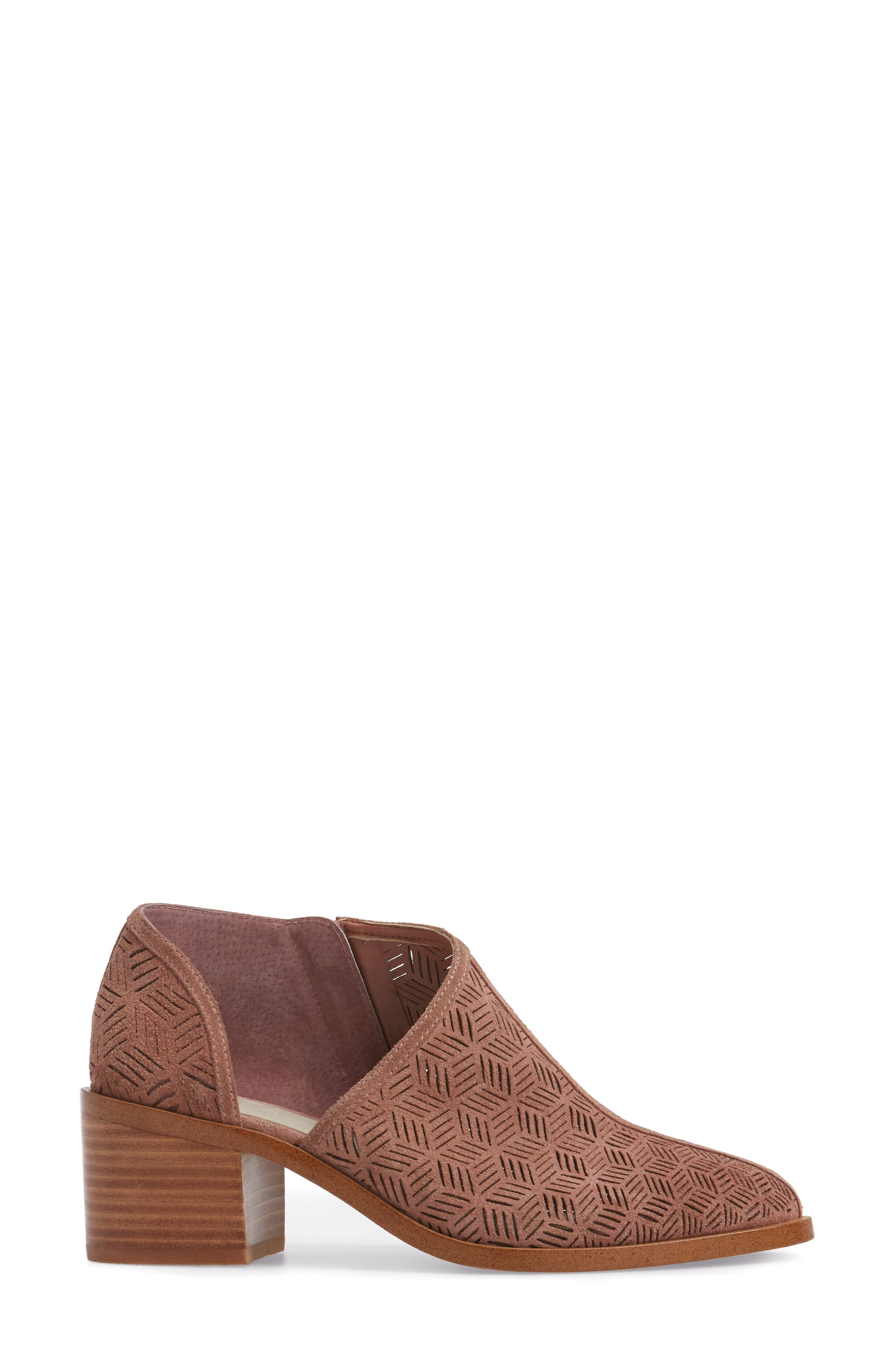 Iddah Perforated Cutaway Bootie,                             Alternate thumbnail 18, color,