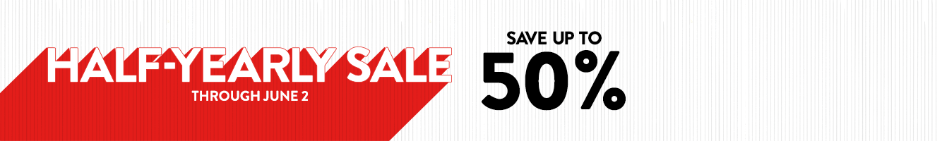 Half-Yearly Sale: save up to 50% through June 2.
