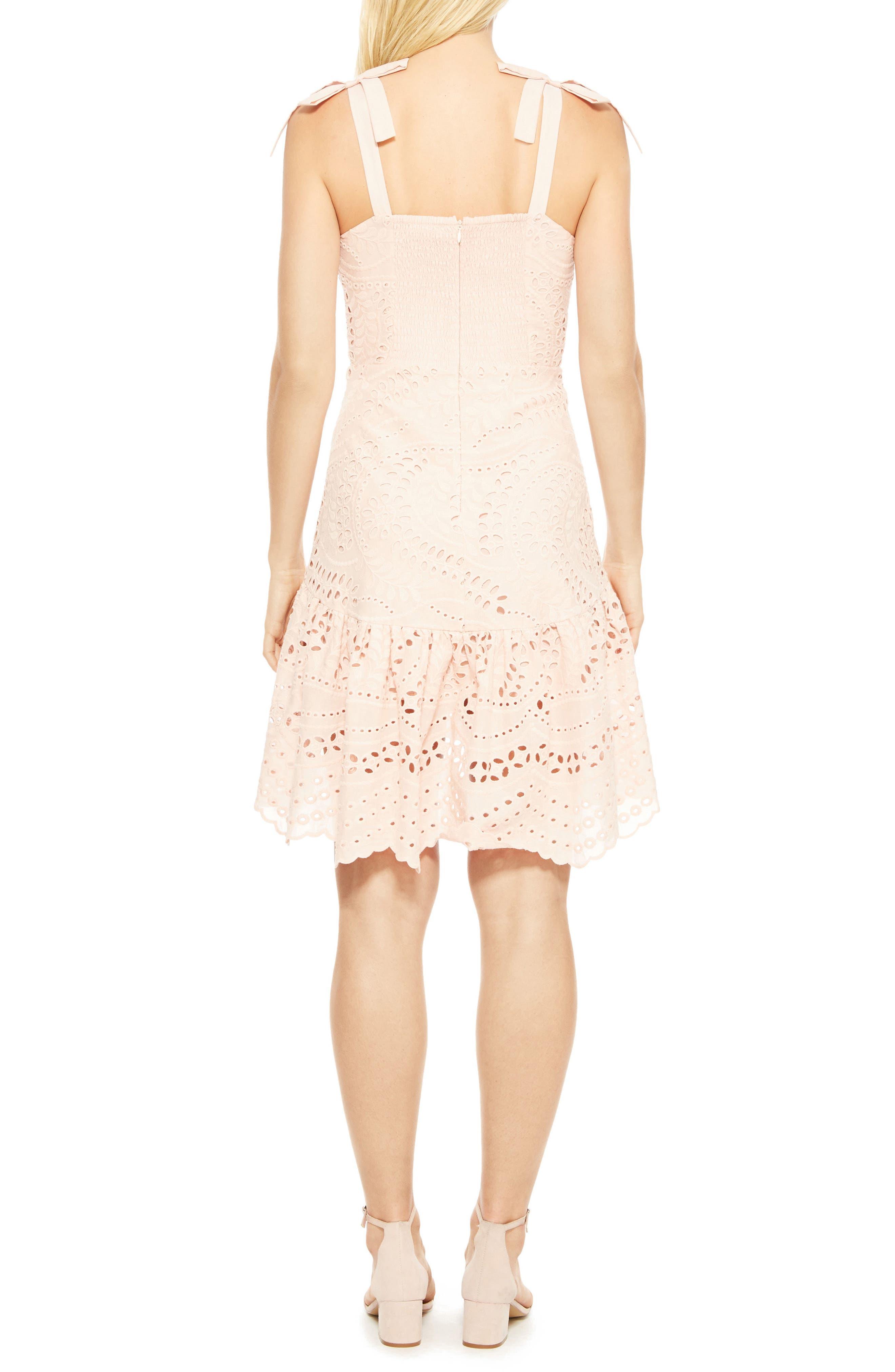Odysseia Eyelet Cotton Dress,                             Alternate thumbnail 2, color,                             695