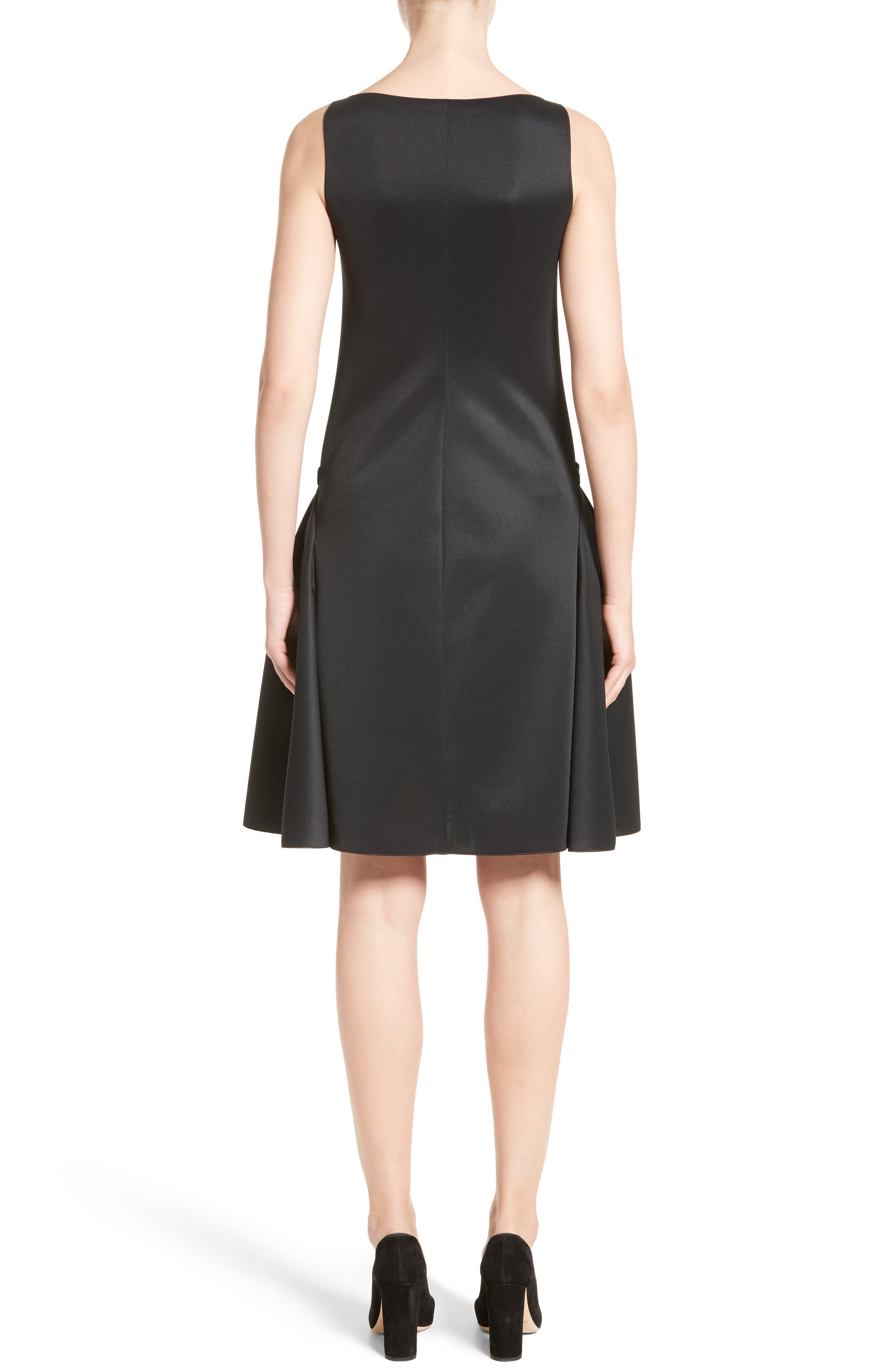 Neoprene Fit & Flare Dress,                             Alternate thumbnail 2, color,                             001