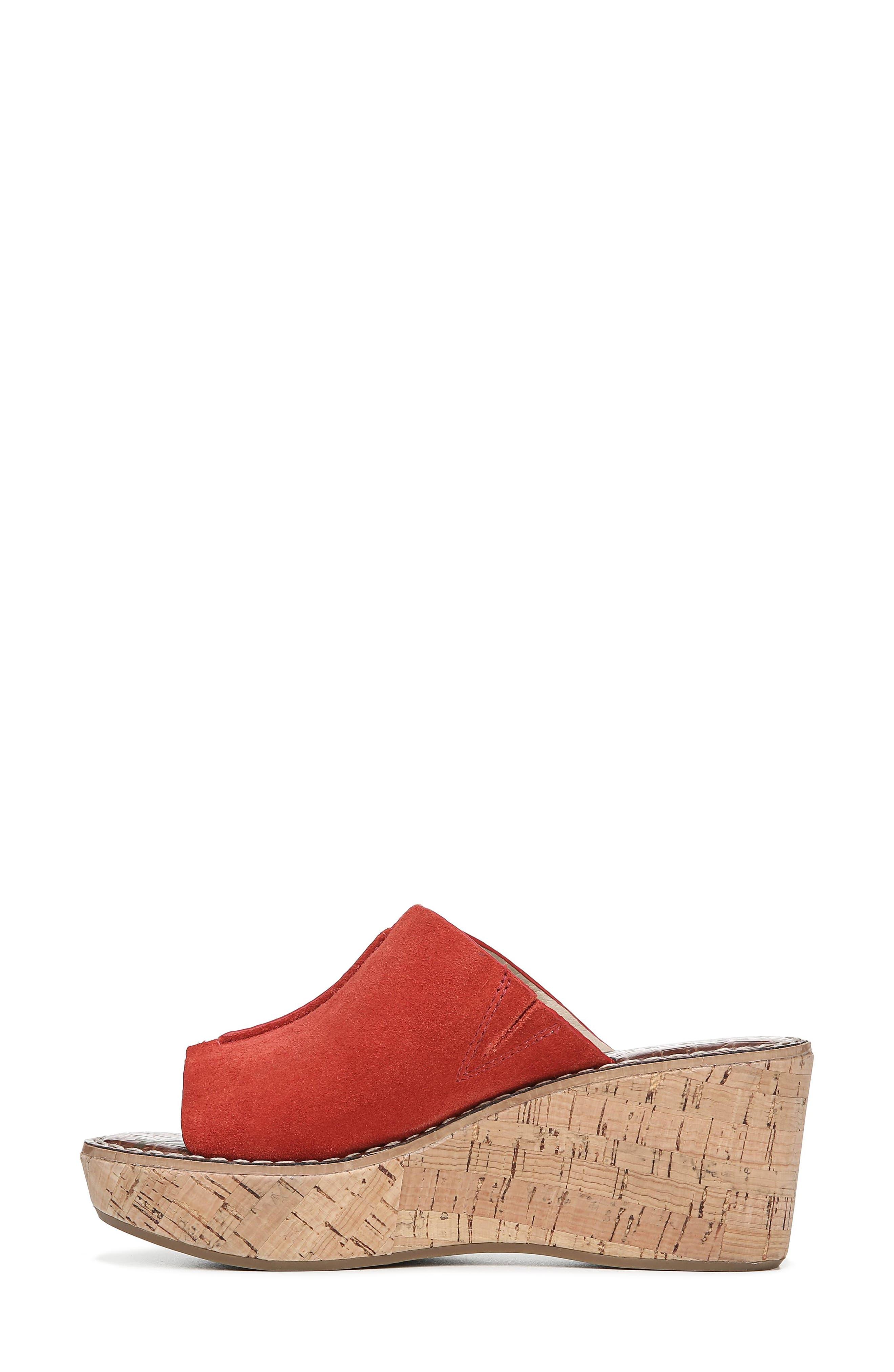 Ranger Platform Sandal,                             Alternate thumbnail 8, color,                             CANDY RED SUEDE