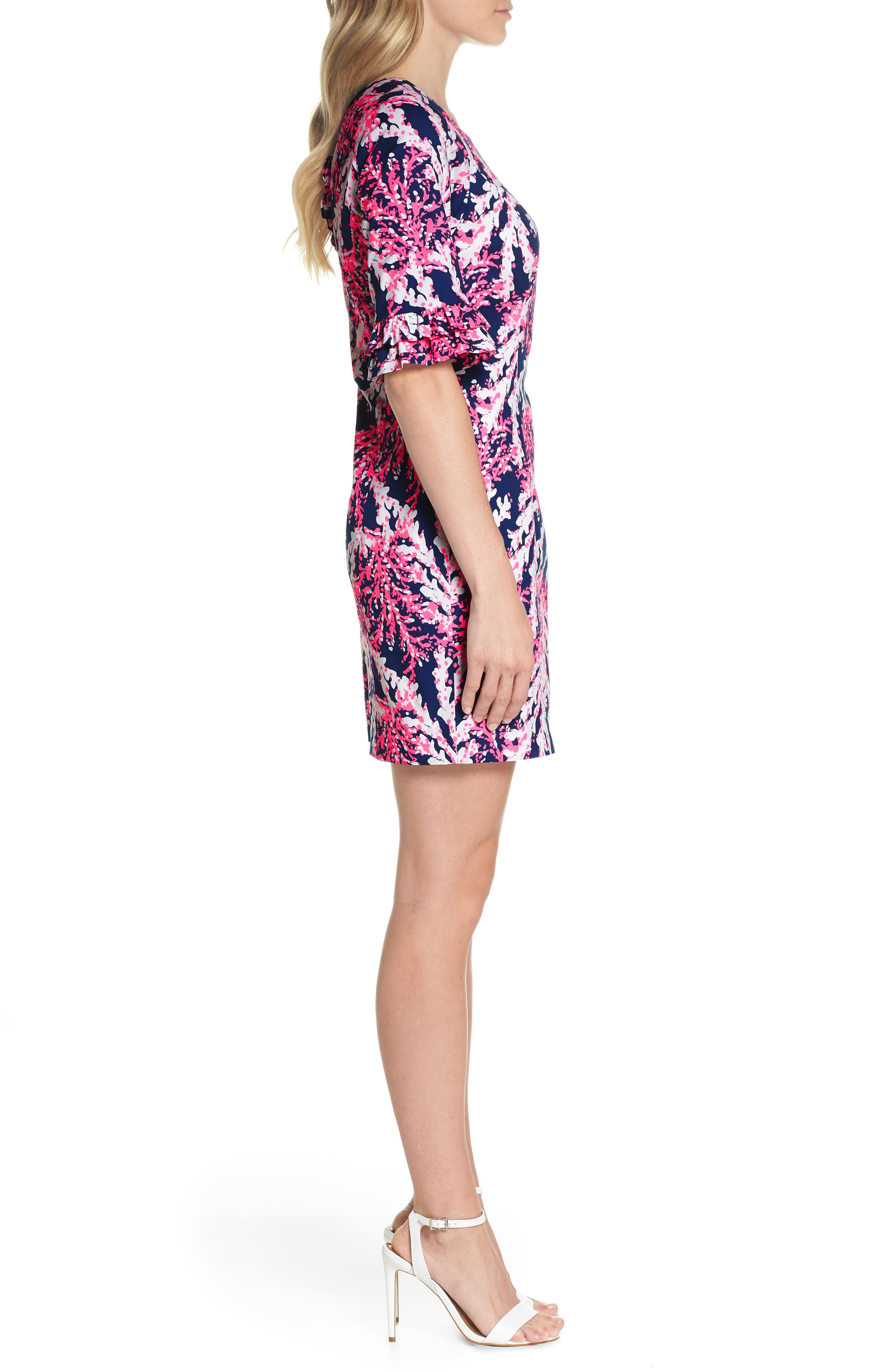 LILLY PULITZER<SUP>®</SUP>,                             Fiesta Stretch Sheath Dress,                             Alternate thumbnail 3, color,                             475