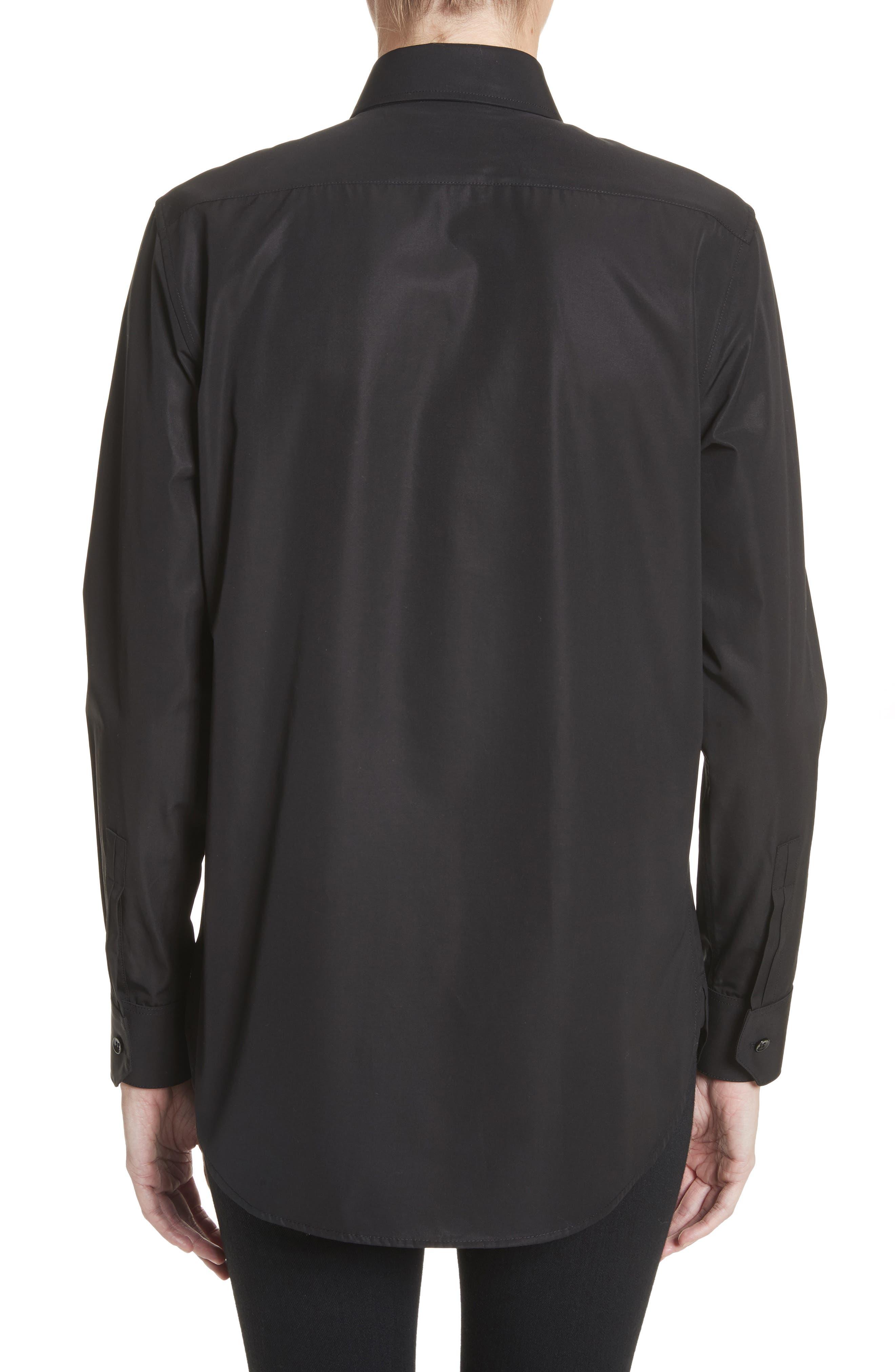 Cotton Tuxedo Shirt,                             Alternate thumbnail 2, color,                             001