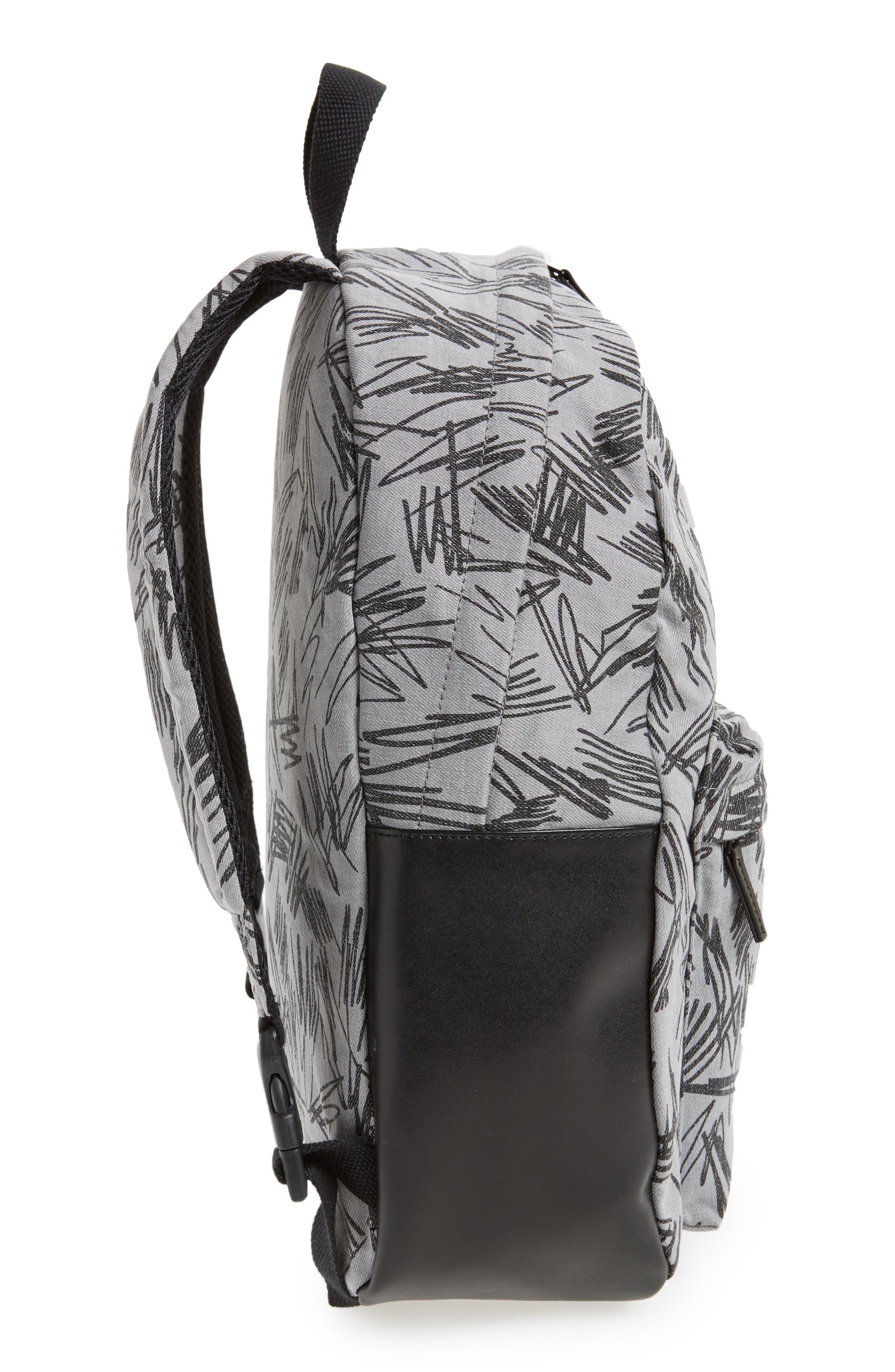 Scribble Print Backpack,                             Alternate thumbnail 4, color,                             020