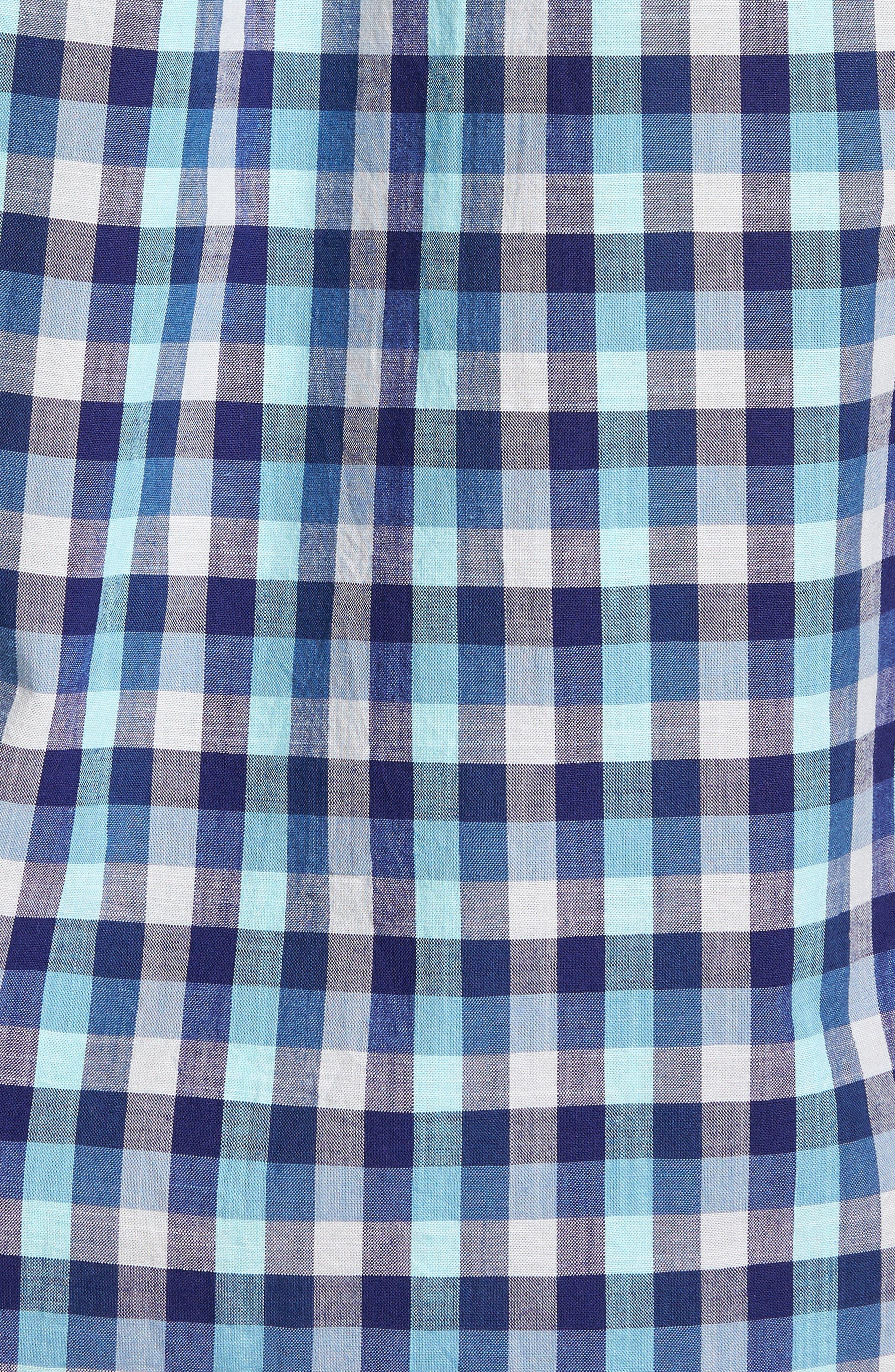 Larson Regular Fit Check Sport Shirt,                             Alternate thumbnail 5, color,