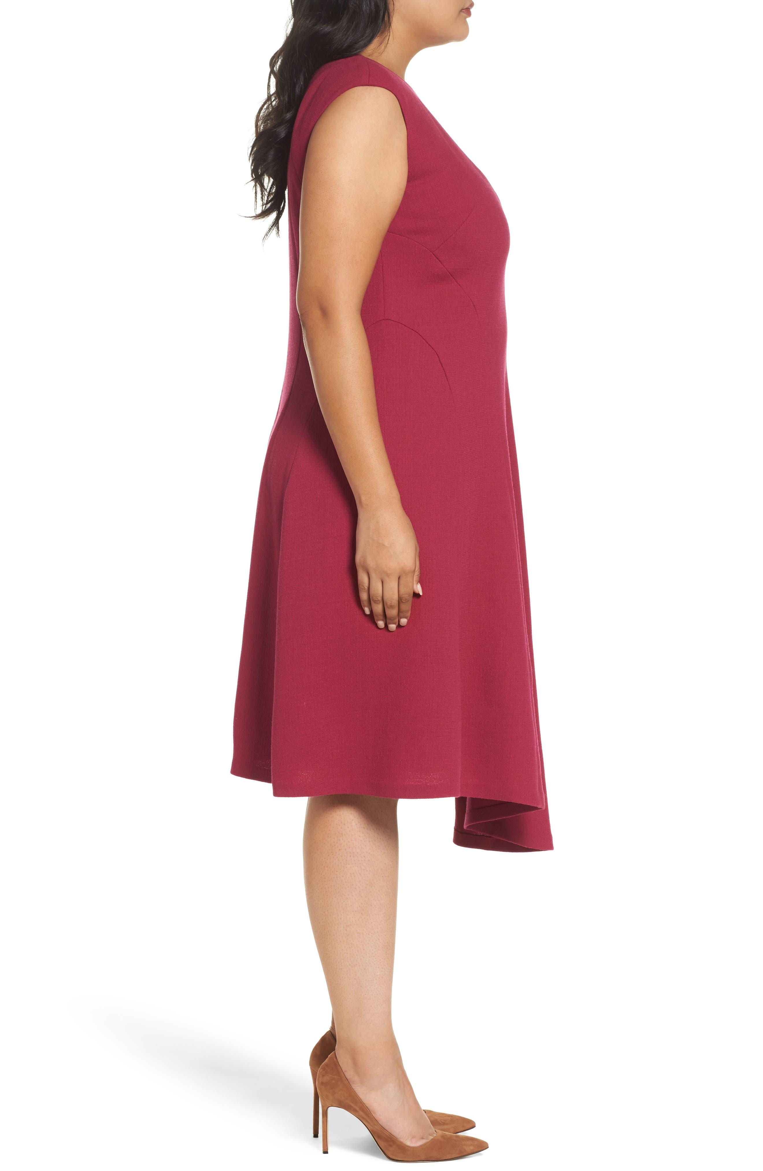 Aveena Wool Interlock Dress,                             Alternate thumbnail 3, color,                             651