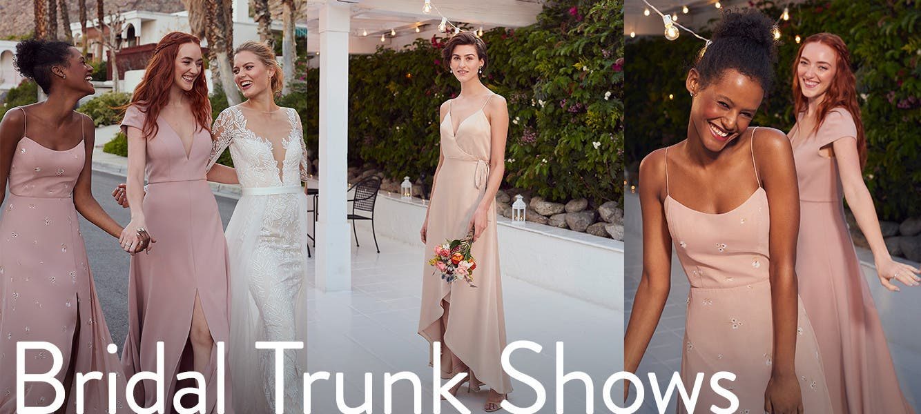 Bridal trunk shows.