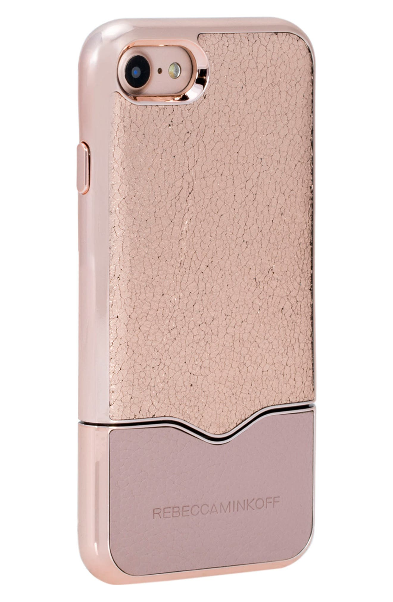 Slide iPhone 7 Case,                             Alternate thumbnail 2, color,                             ROSE GOLD NUDE