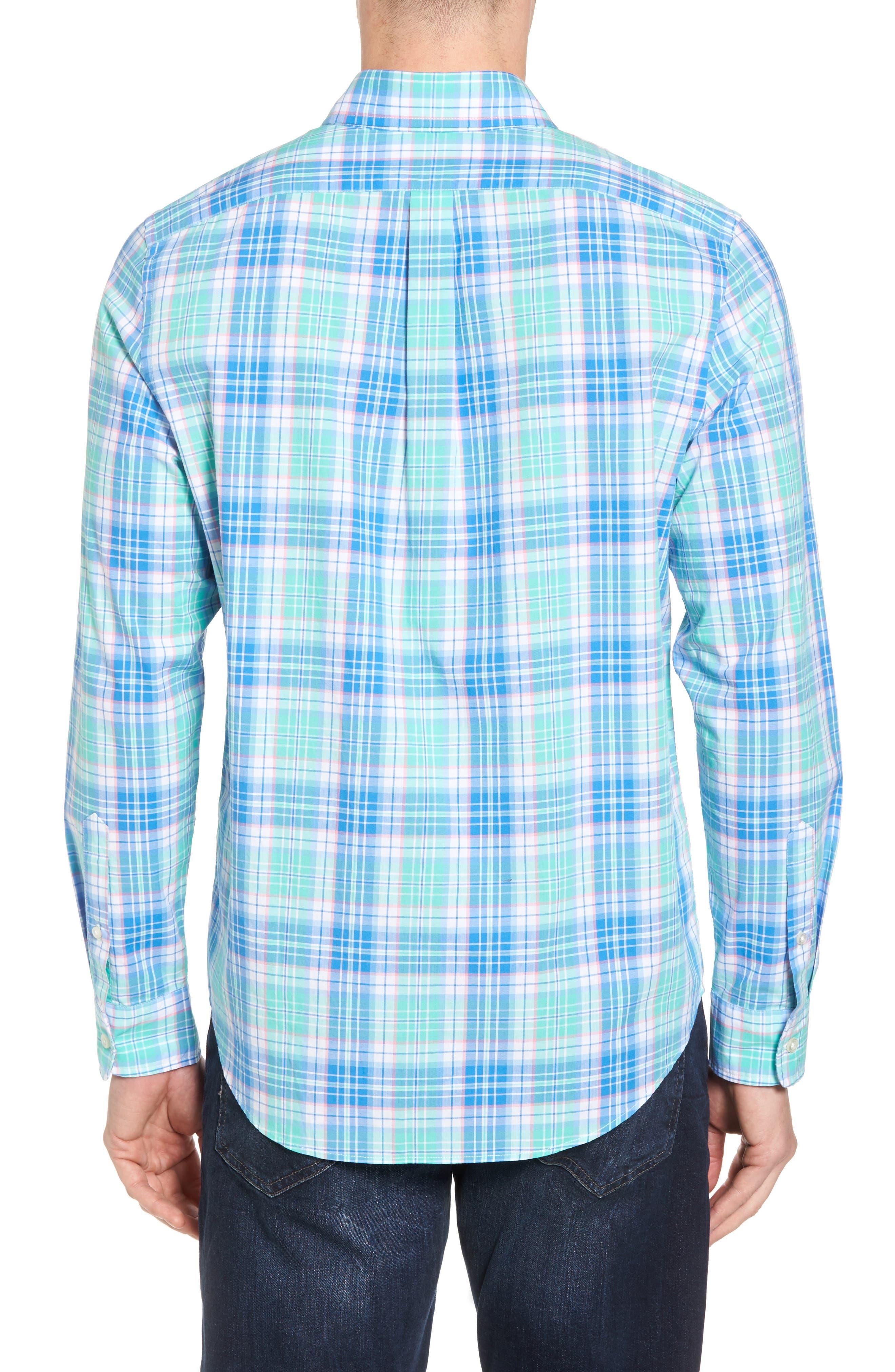 Sutherland Road Slim Fit Plaid Sport Shirt,                             Alternate thumbnail 2, color,                             359