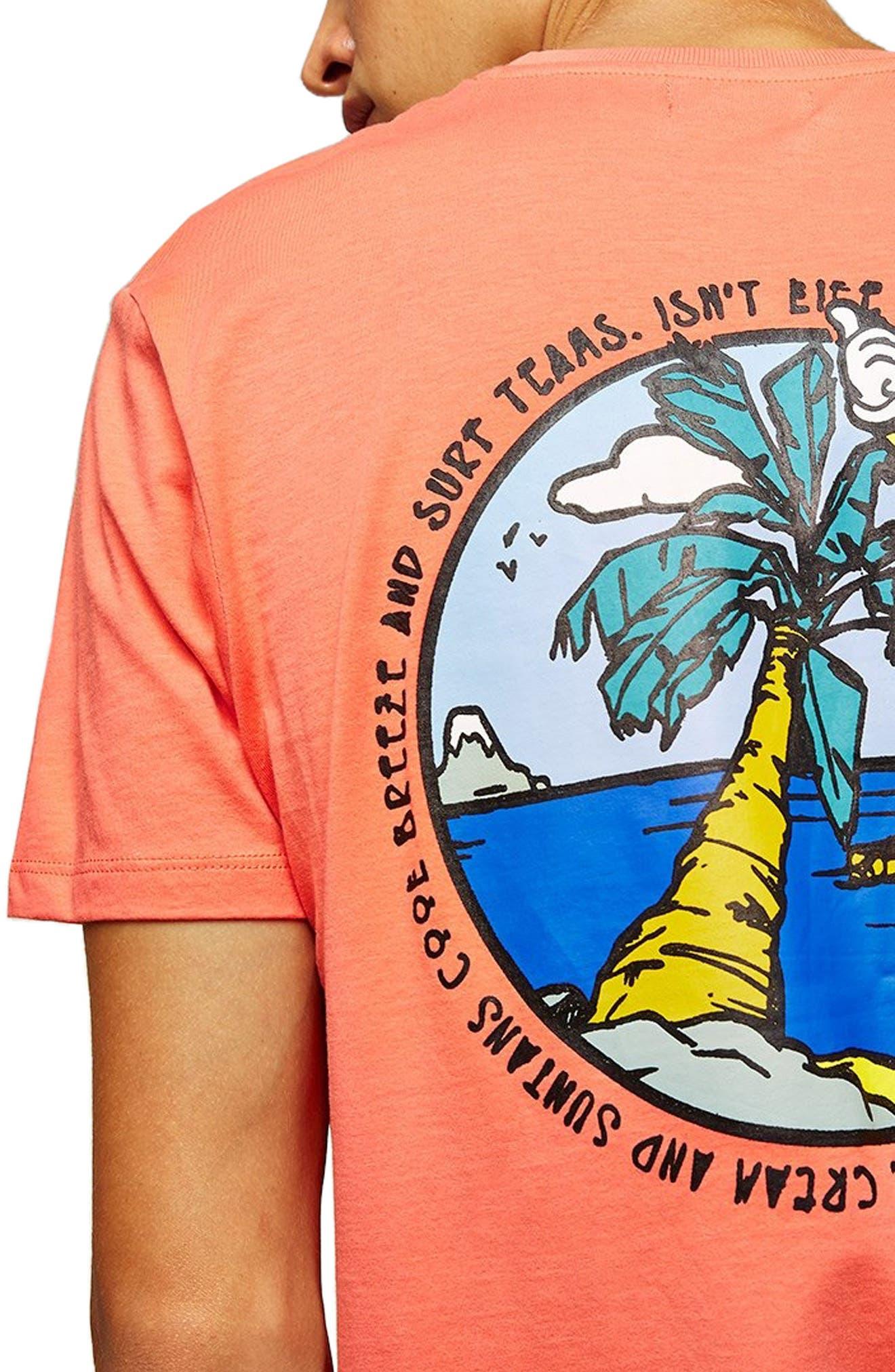 Sun T-Shirt,                             Alternate thumbnail 3, color,                             PINK