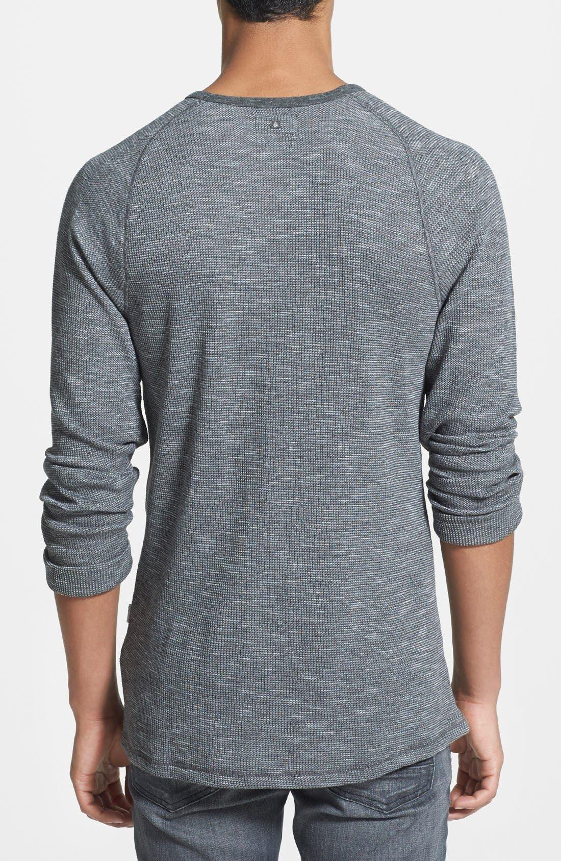 VOLCOM,                             'Upgrade' Slim Fit Long Sleeve Thermal Shirt,                             Alternate thumbnail 2, color,                             020