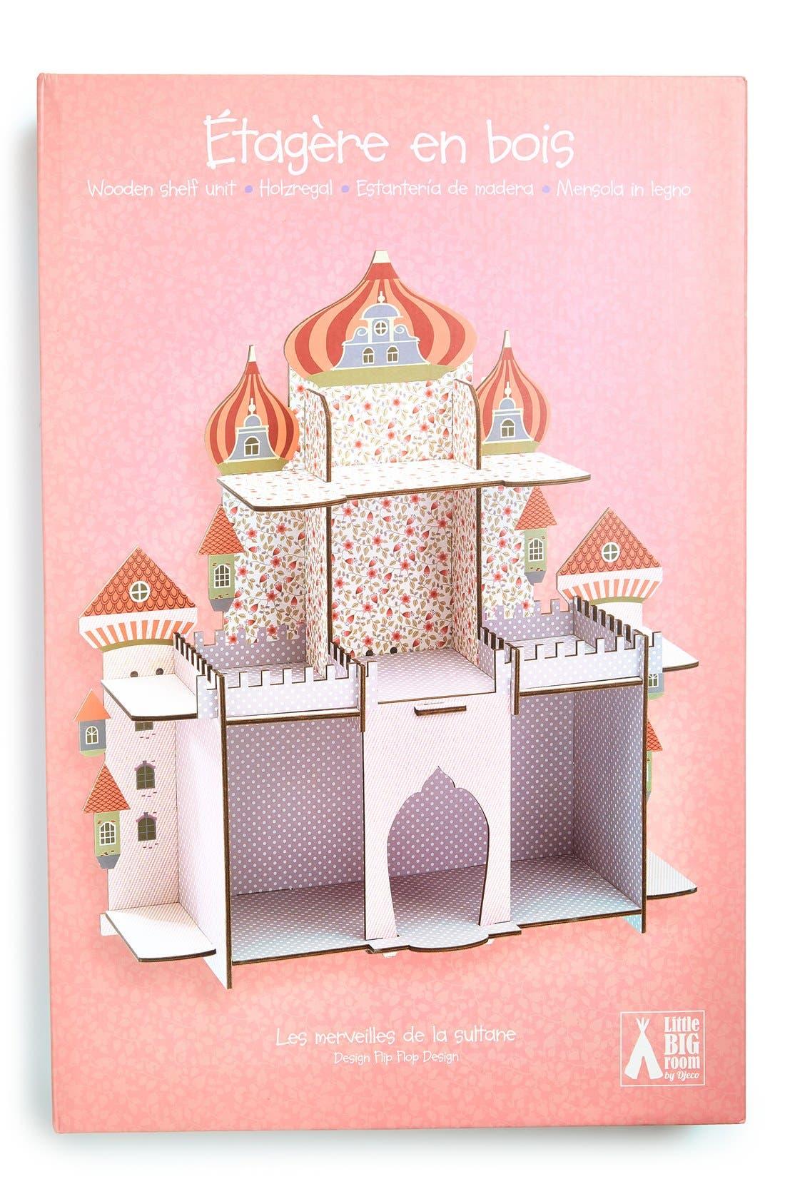 'Persian Princess Castle' Wooden Shelf,                             Main thumbnail 1, color,                             000