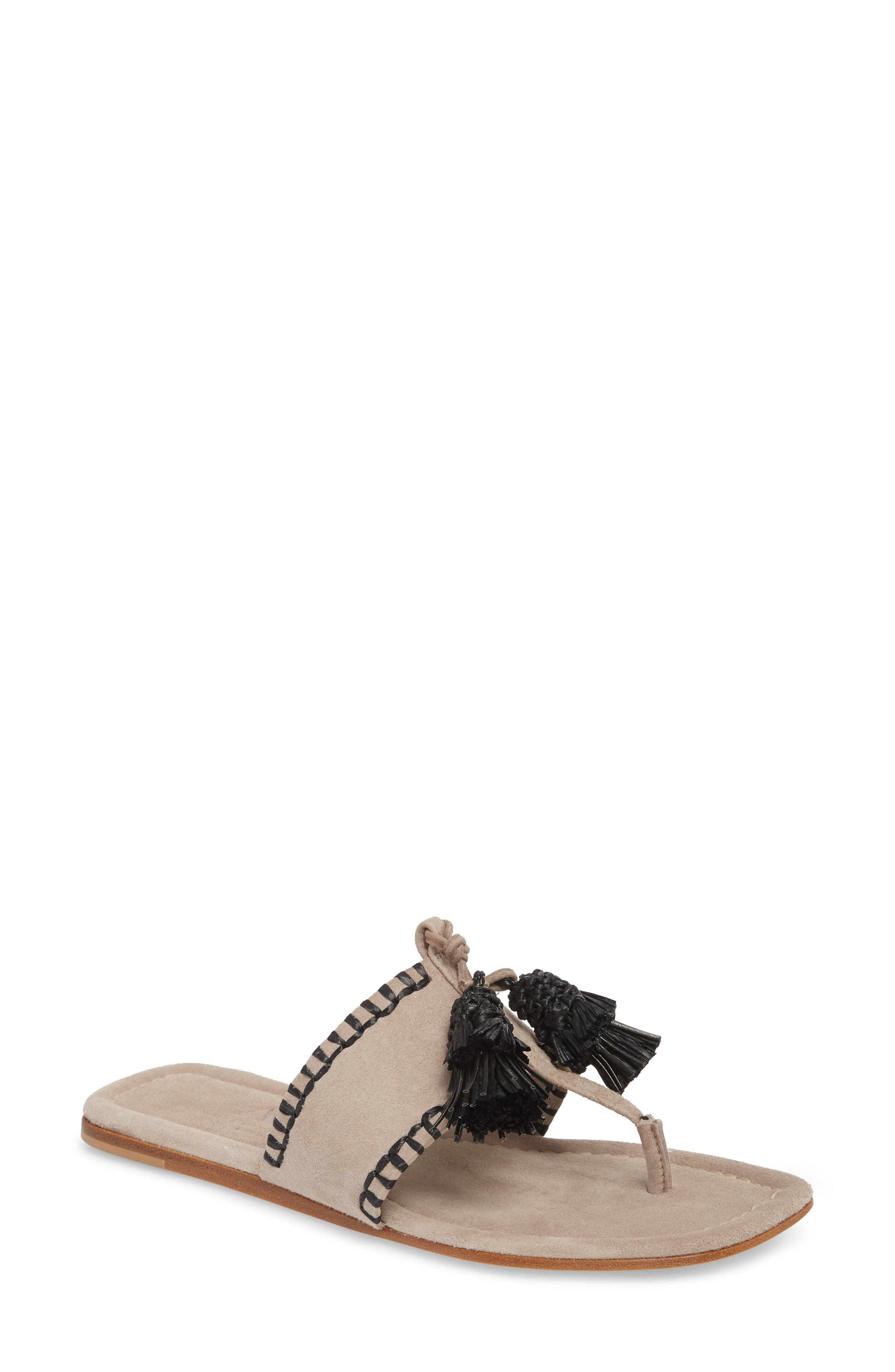 Raffia Tassel Sandal,                         Main,                         color, 020