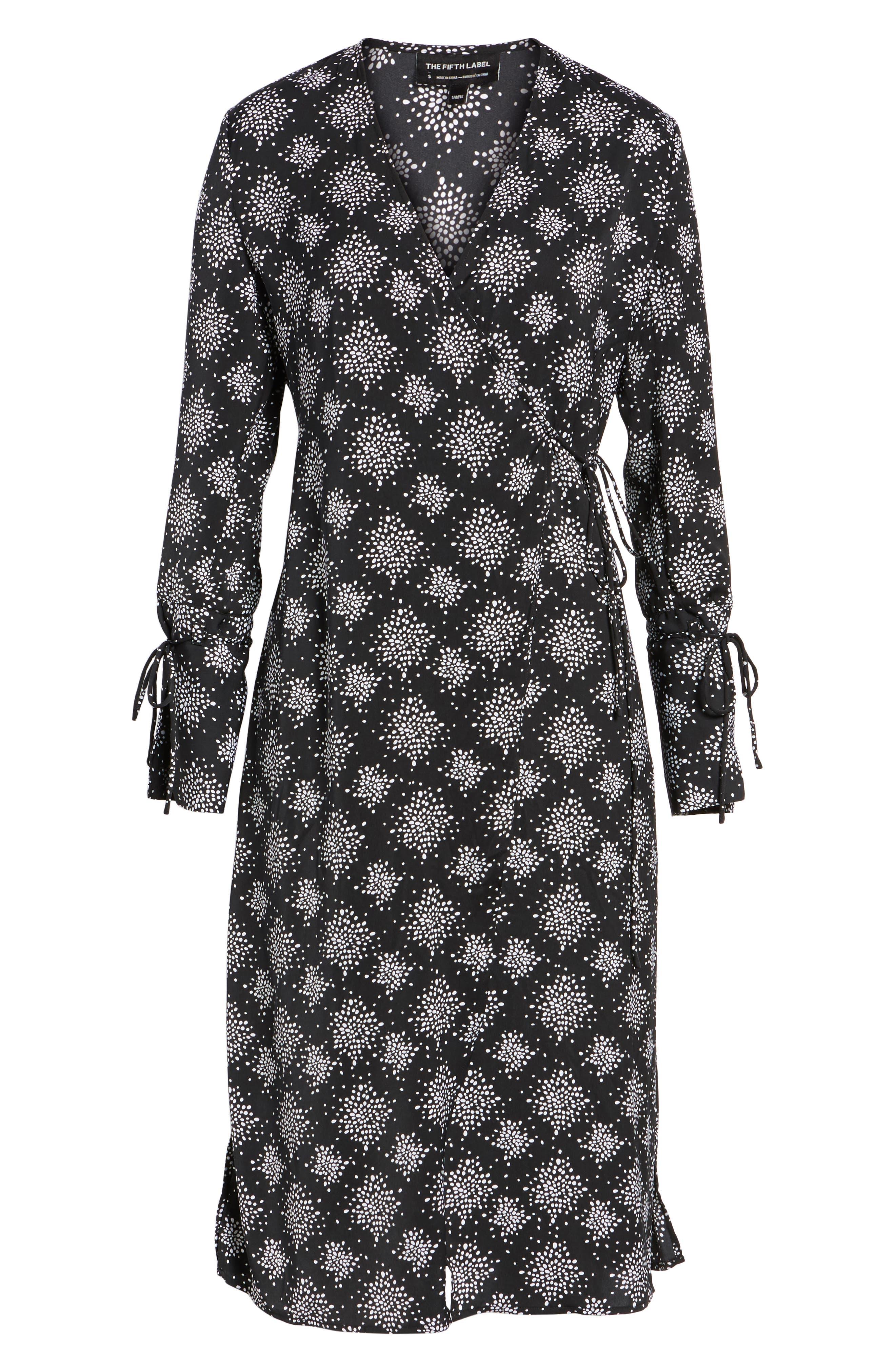 Emergent Wrap Midi Dress,                             Alternate thumbnail 6, color,                             002
