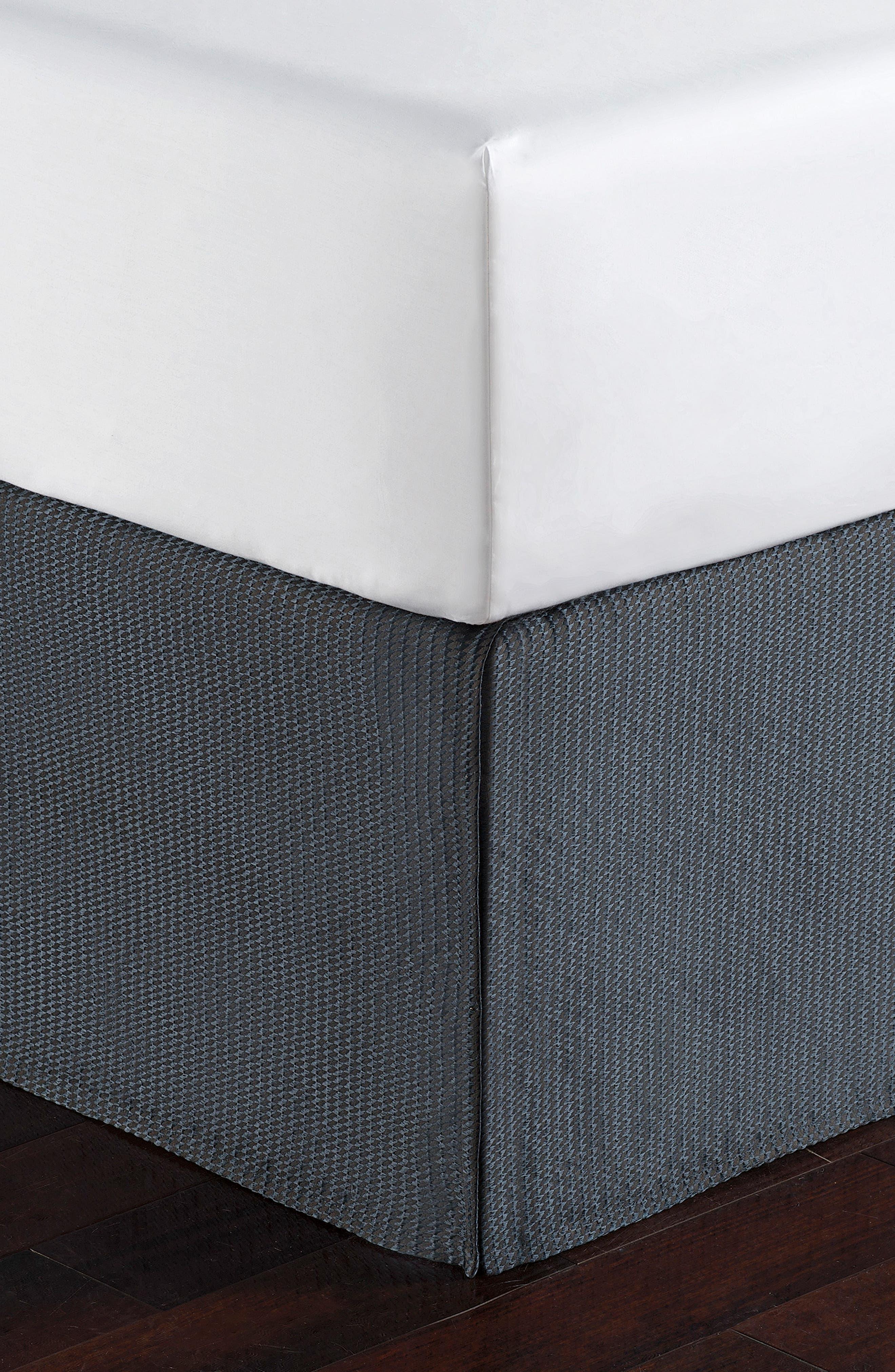 Everett Reversible Comforter, Sham & Bed Skirt Set,                             Alternate thumbnail 5, color,                             TEAL