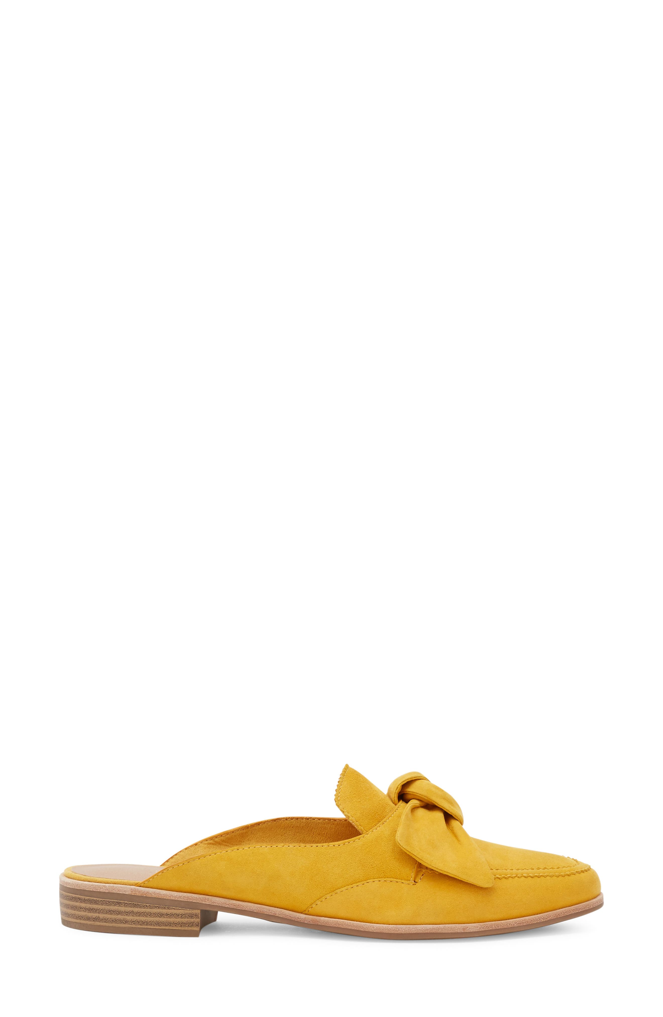 Ebbie Bow Mule,                             Alternate thumbnail 3, color,                             YELLOW SUEDE