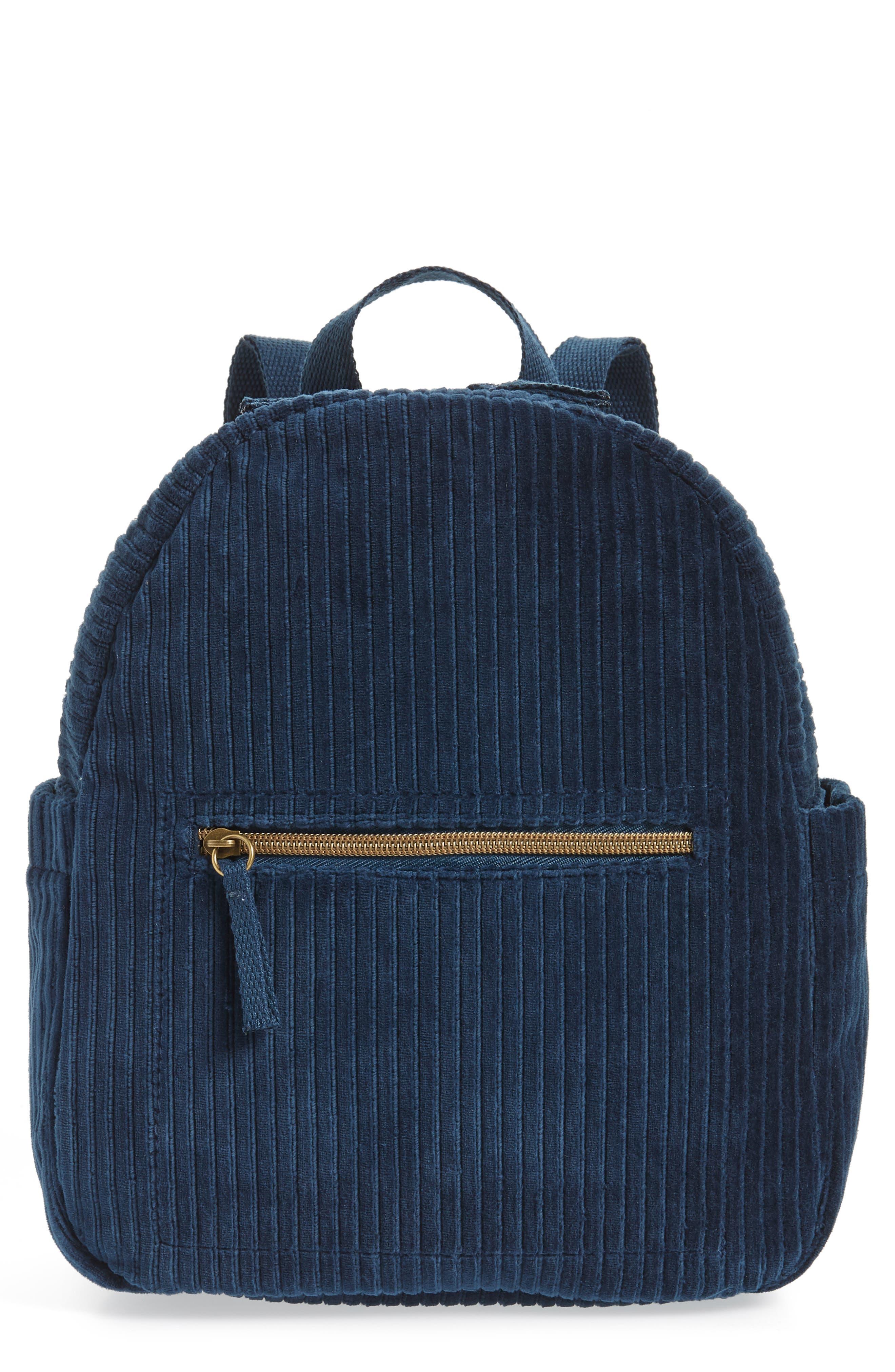 Corduroy Mini Backpack,                             Main thumbnail 1, color,                             440