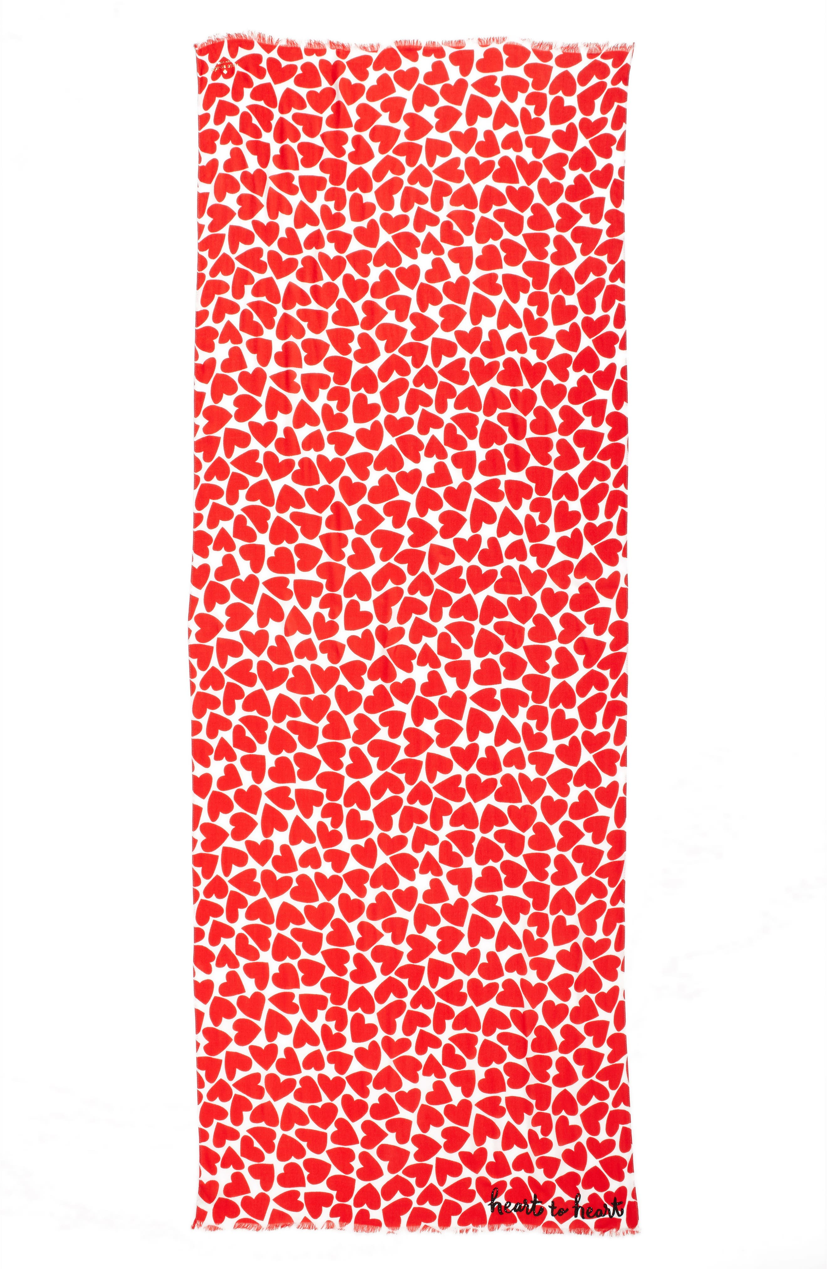 KATE SPADE NEW YORK,                             heart to heart scarf,                             Alternate thumbnail 2, color,                             607