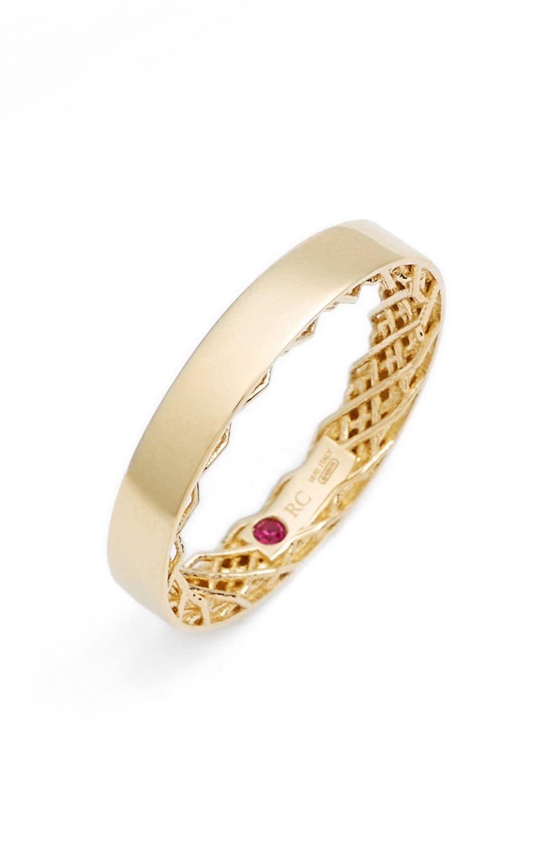 'Symphony - Golden Gate' Band Ring,                             Main thumbnail 1, color,                             YELLOW GOLD