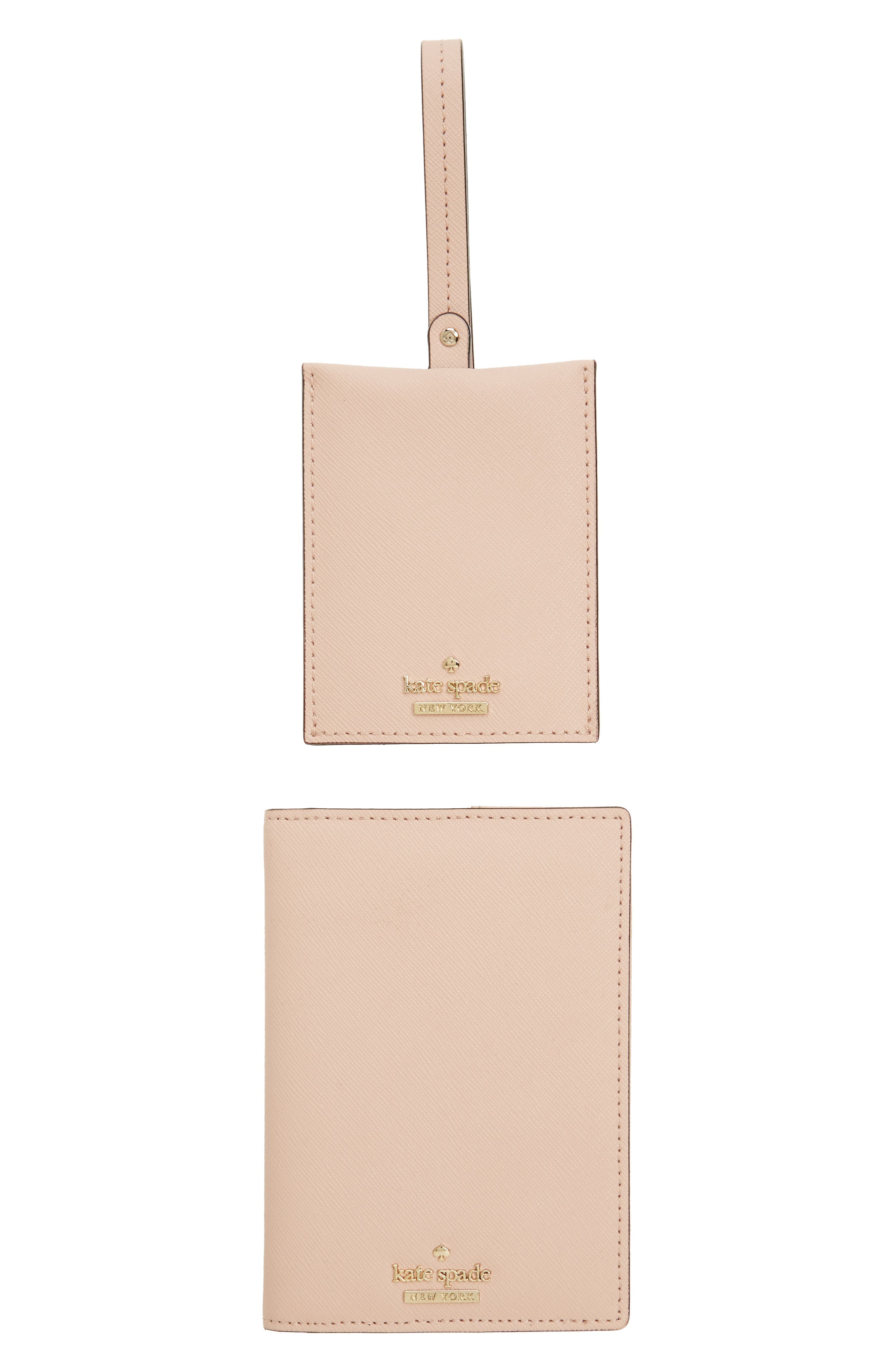 leather passport case & luggage tag set,                             Main thumbnail 3, color,