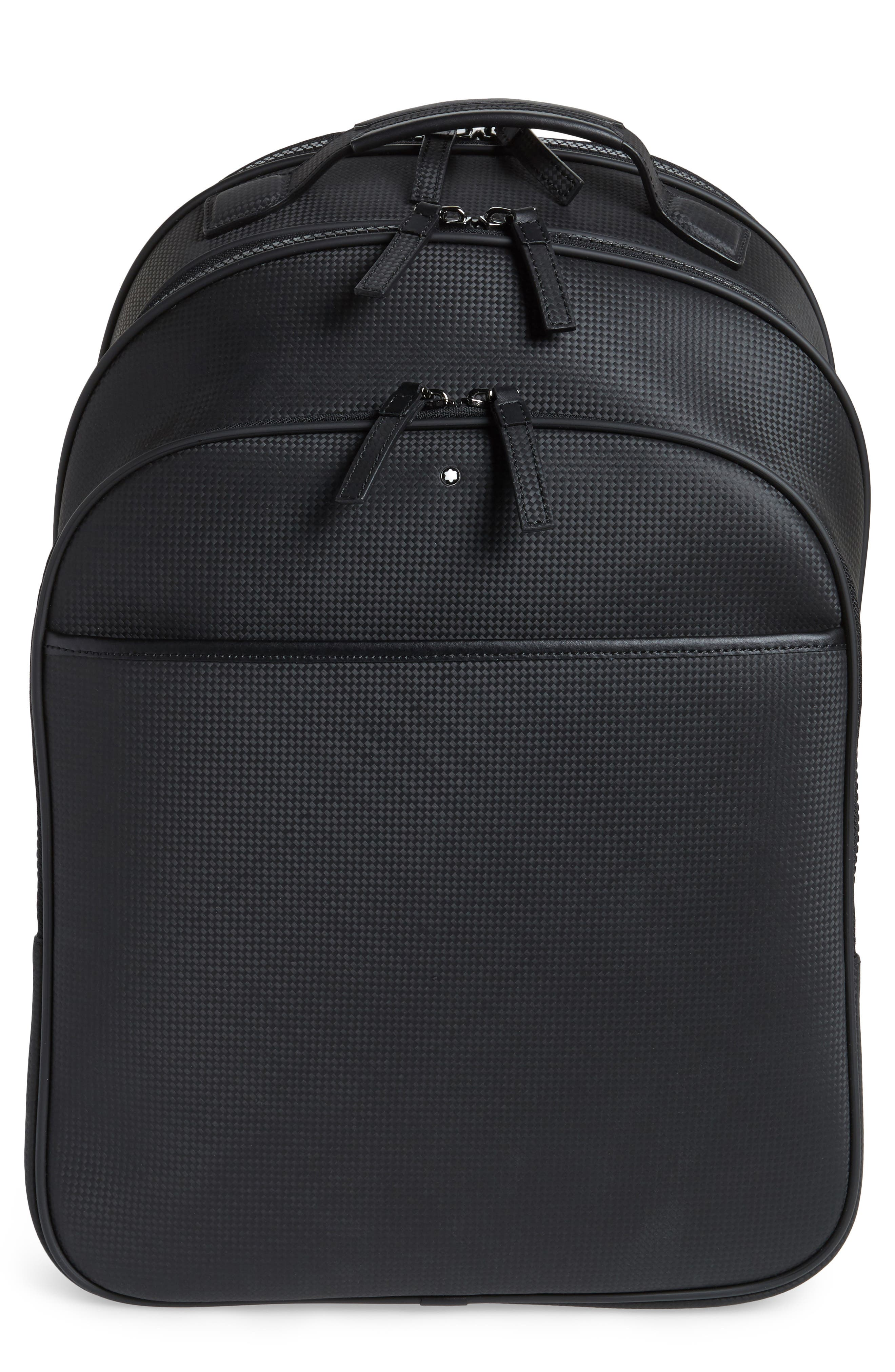 Extreme Leather Backpack,                         Main,                         color, BLACK