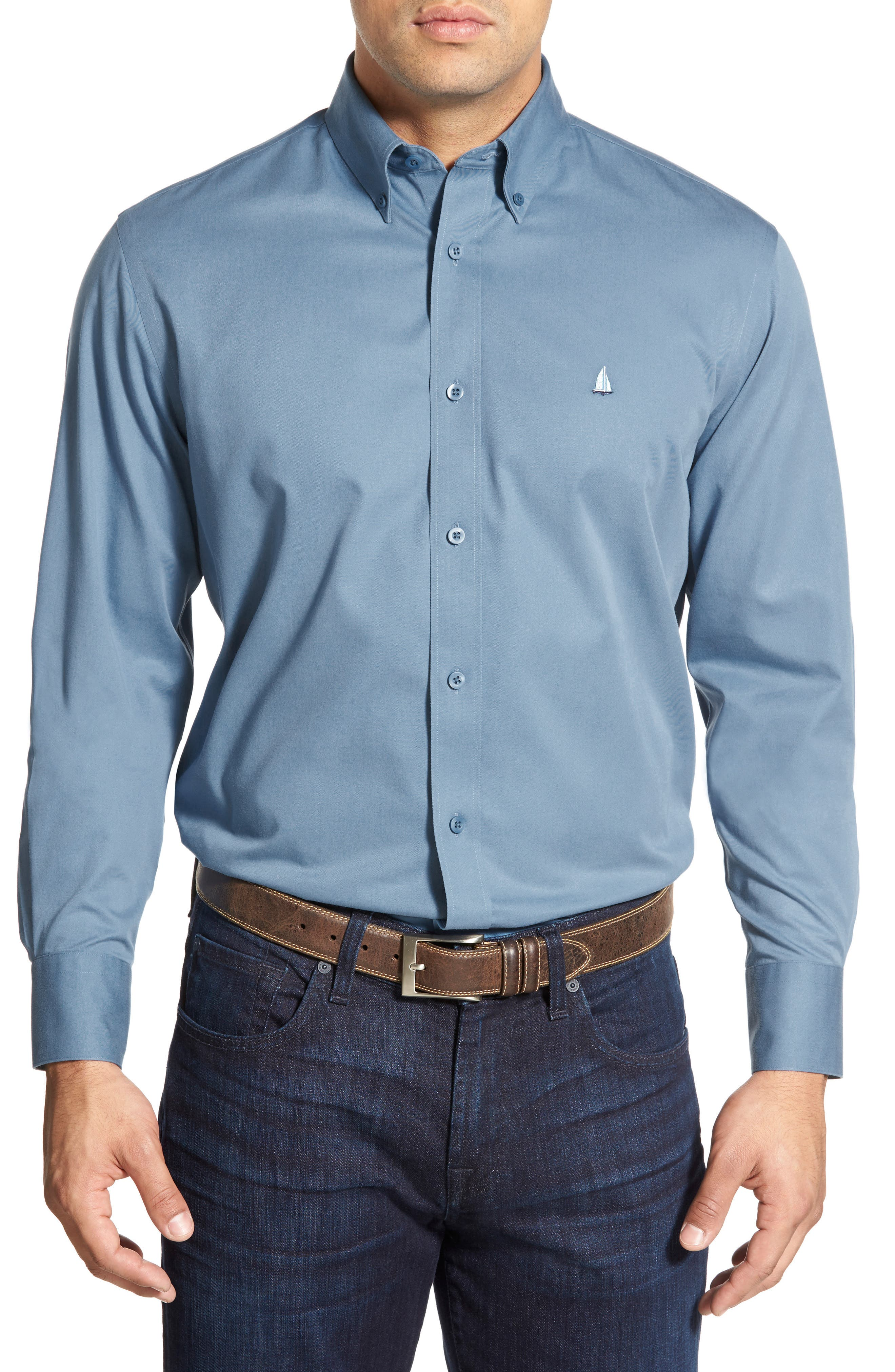 Smartcare<sup>™</sup> Traditional Fit Twill Boat Shirt,                             Alternate thumbnail 64, color,