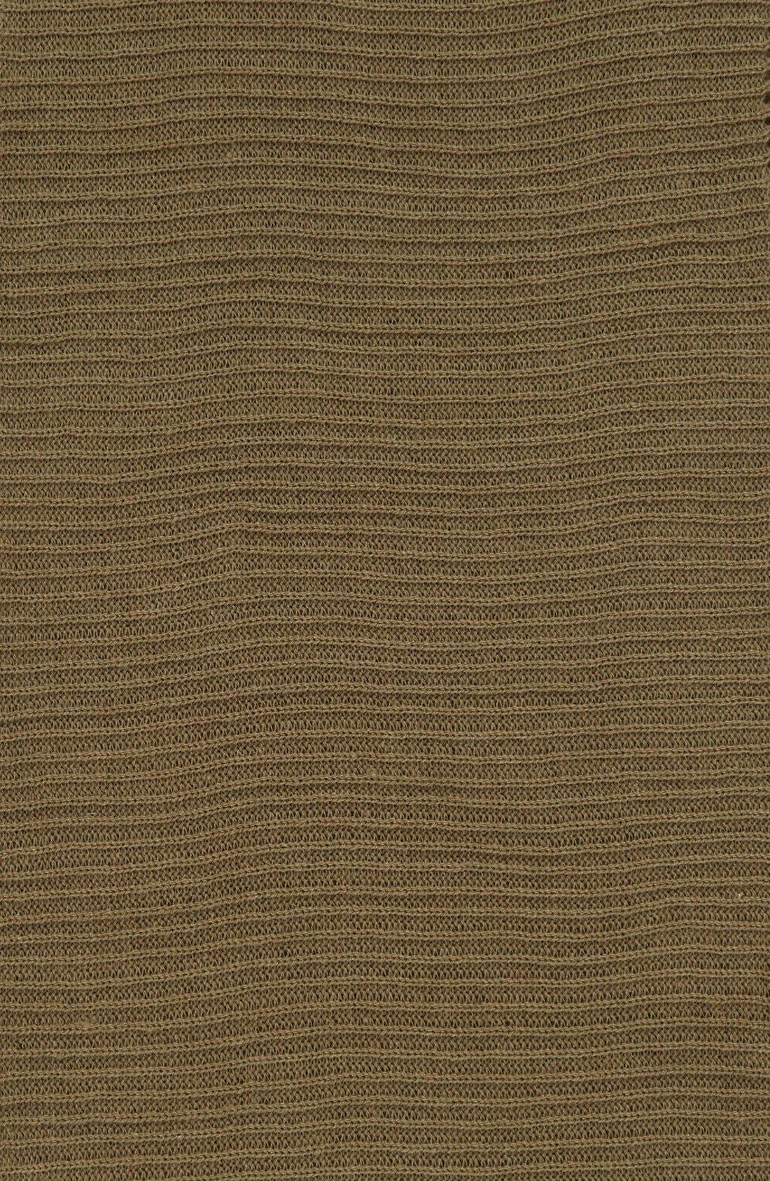 Rib Knit Fringe Infinity Scarf,                             Alternate thumbnail 9, color,