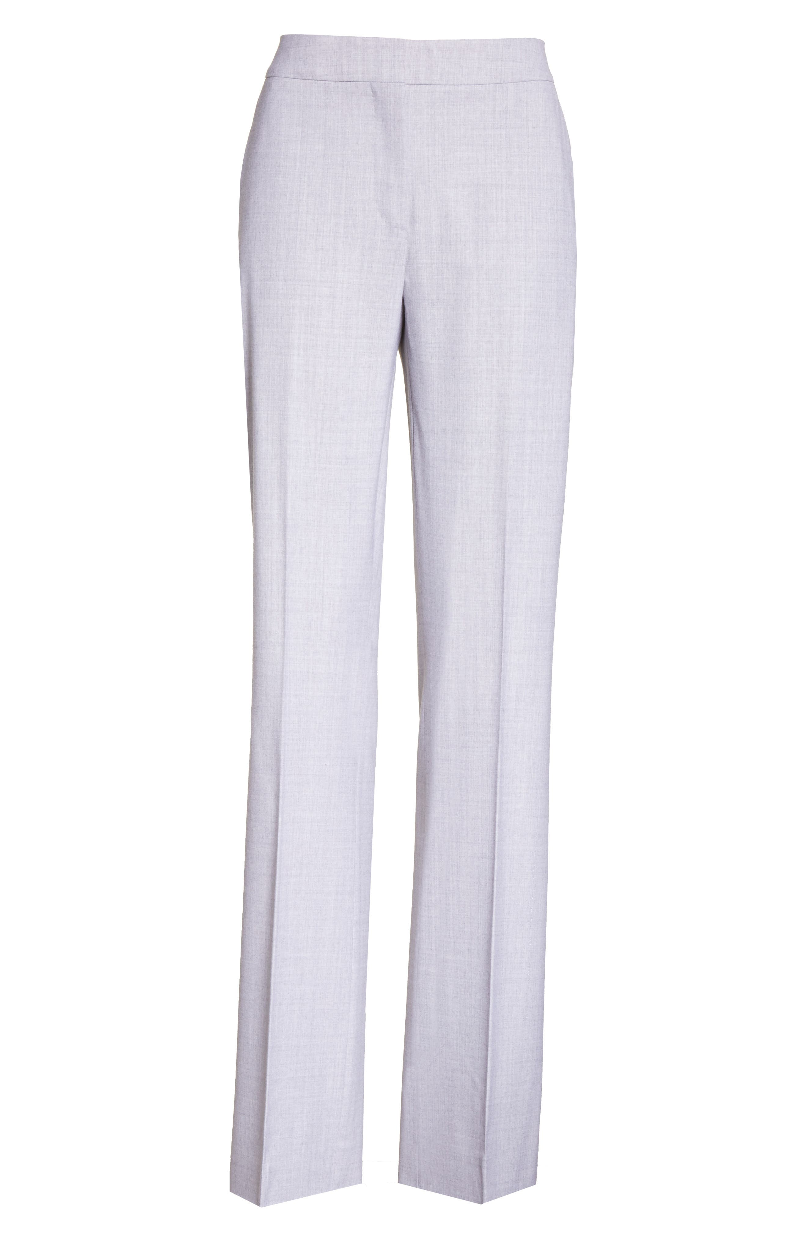 Alessia Stretch Wool Pants,                             Alternate thumbnail 6, color,                             054