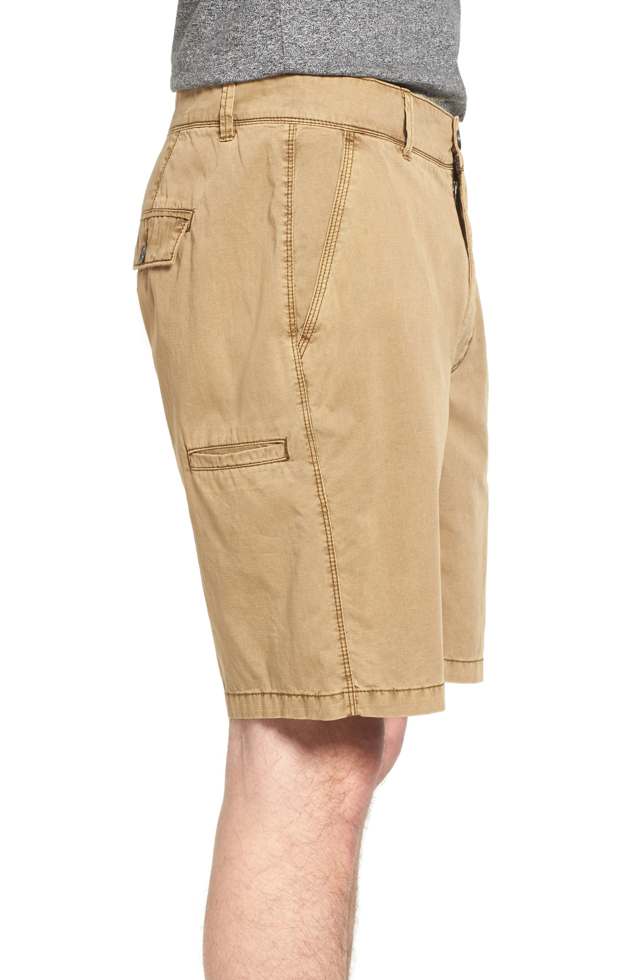 Merrill Pigment Slub Poplin Shorts,                             Alternate thumbnail 3, color,                             CELLO
