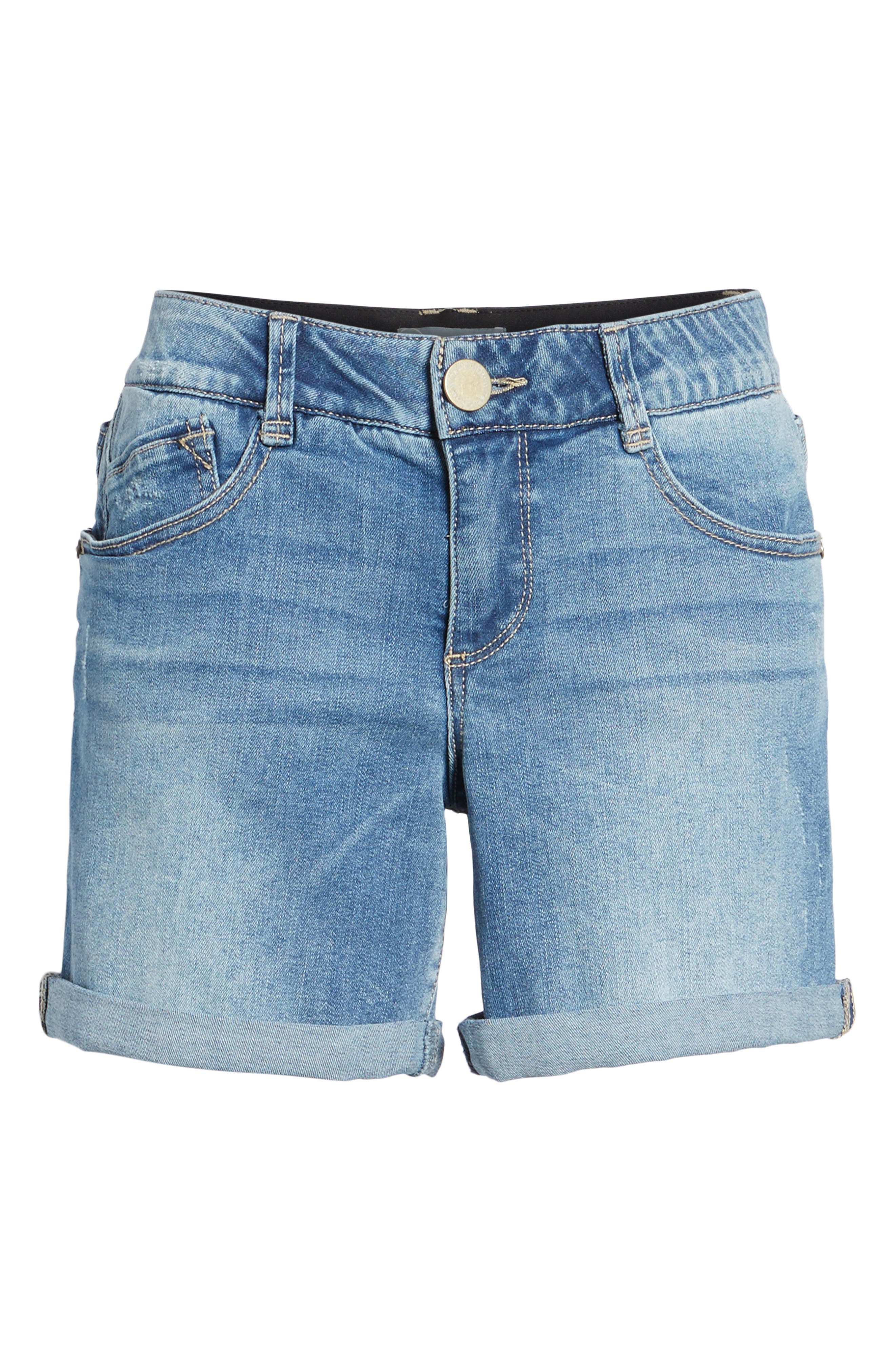 Ab-solution Denim Shorts,                             Alternate thumbnail 6, color,                             458