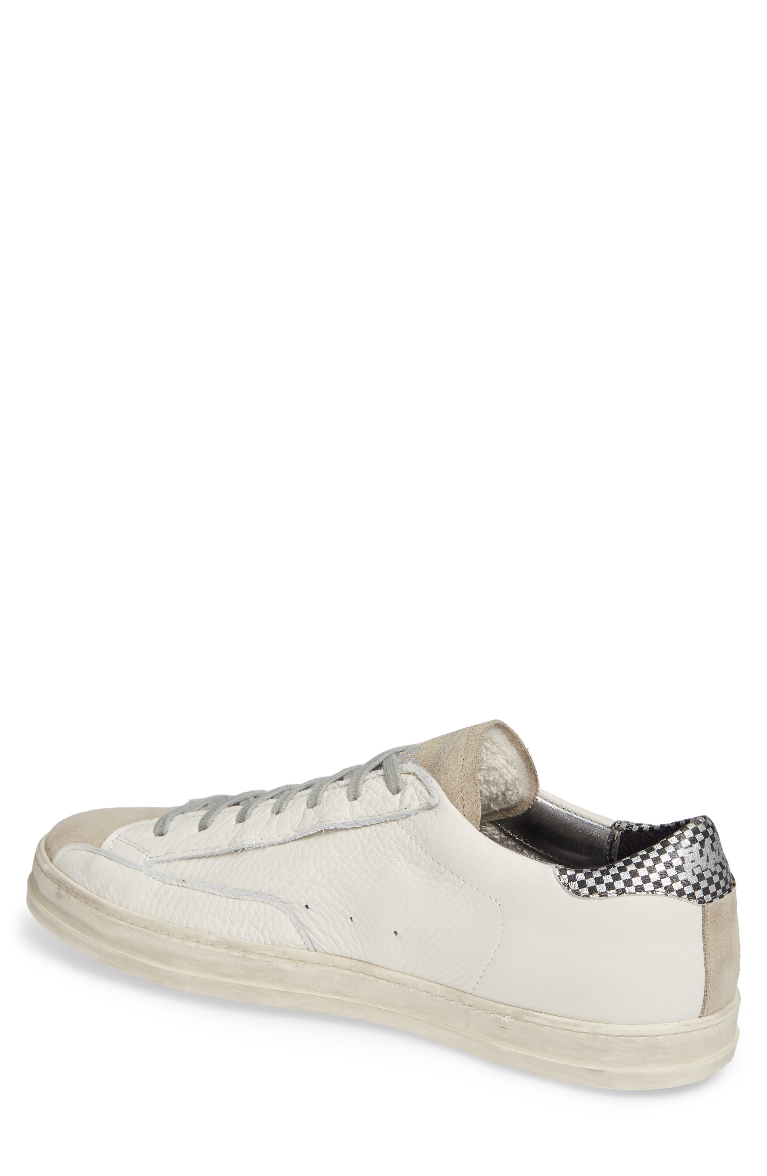 A8John Perforated Sneaker,                             Alternate thumbnail 2, color,                             WHITE/ WHITE