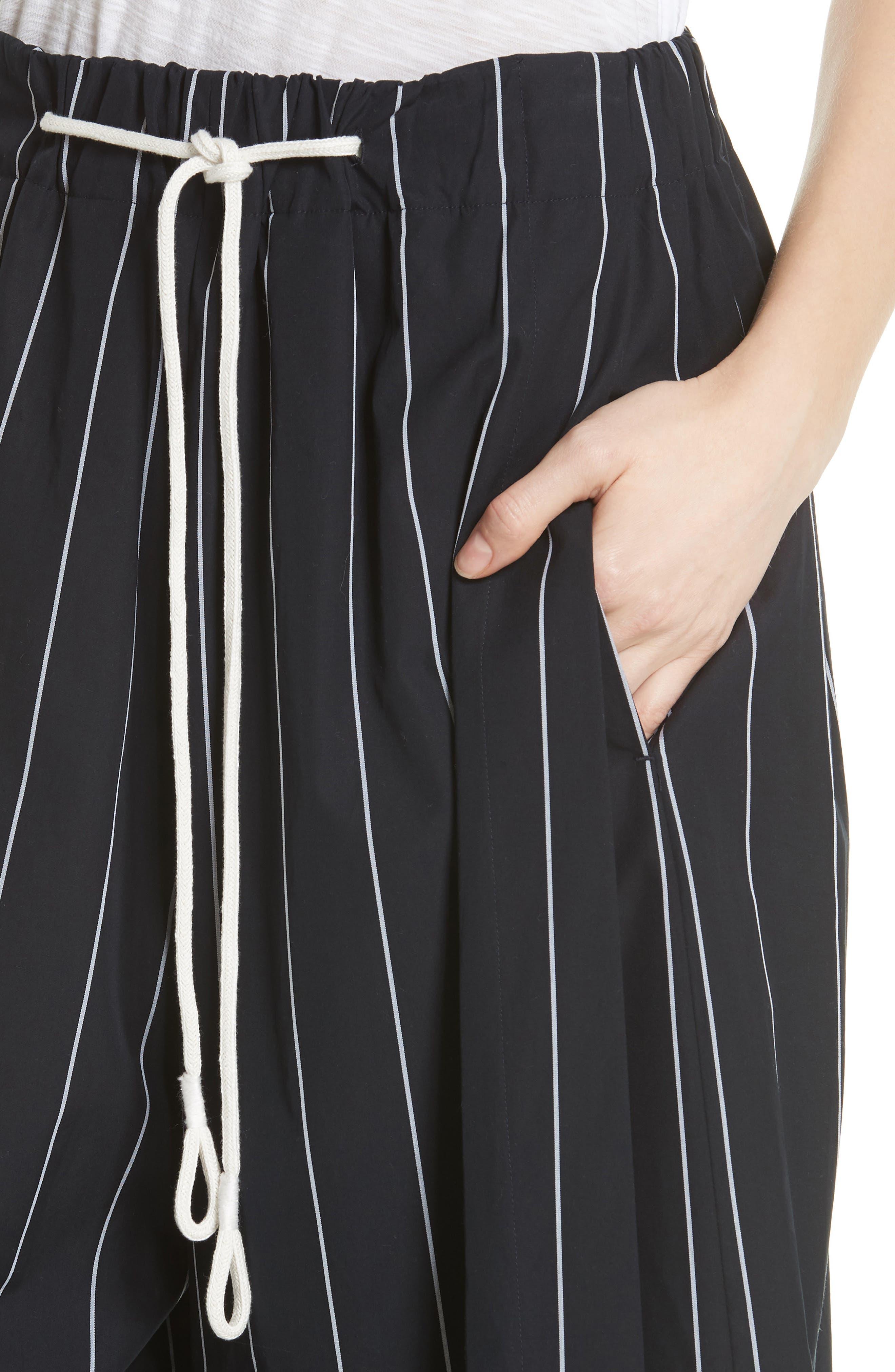 Stripe Cotton Culottes,                             Alternate thumbnail 4, color,                             416