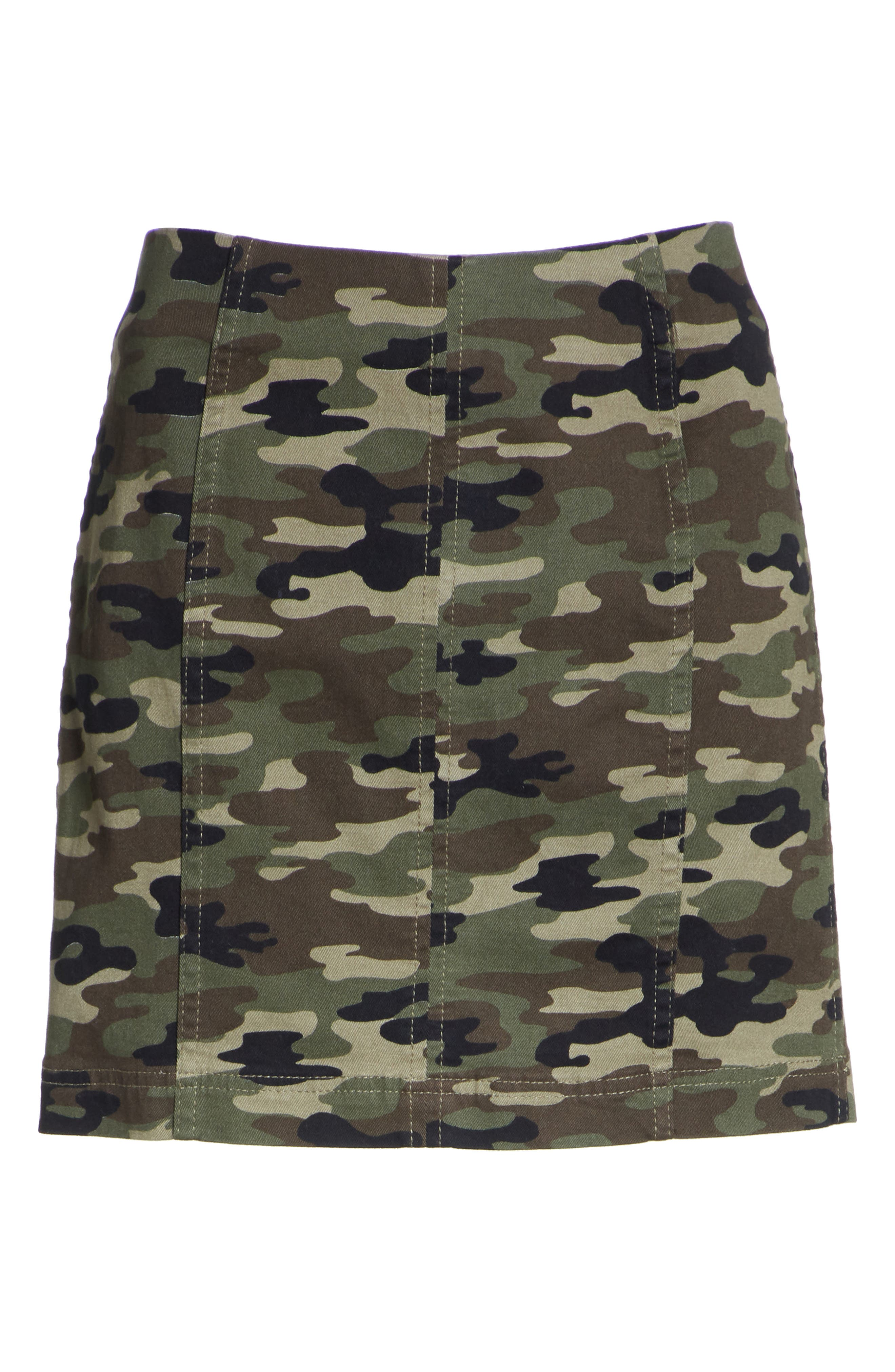We the Free by Free People Modern Femme Camo Skirt,                             Alternate thumbnail 6, color,                             GREEN