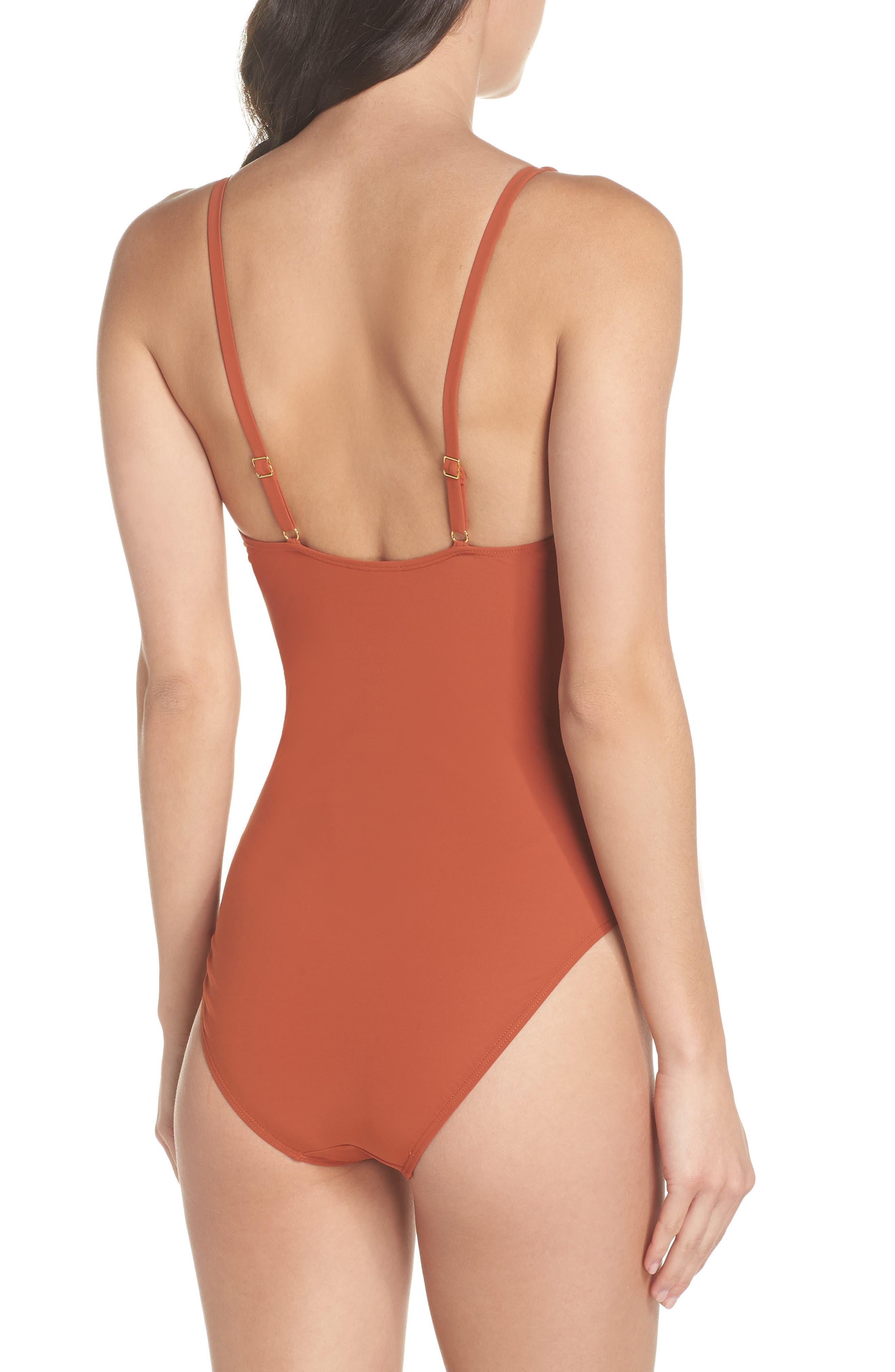 Palma One-Piece Swimsuit,                             Alternate thumbnail 2, color,                             DESERT SPICE
