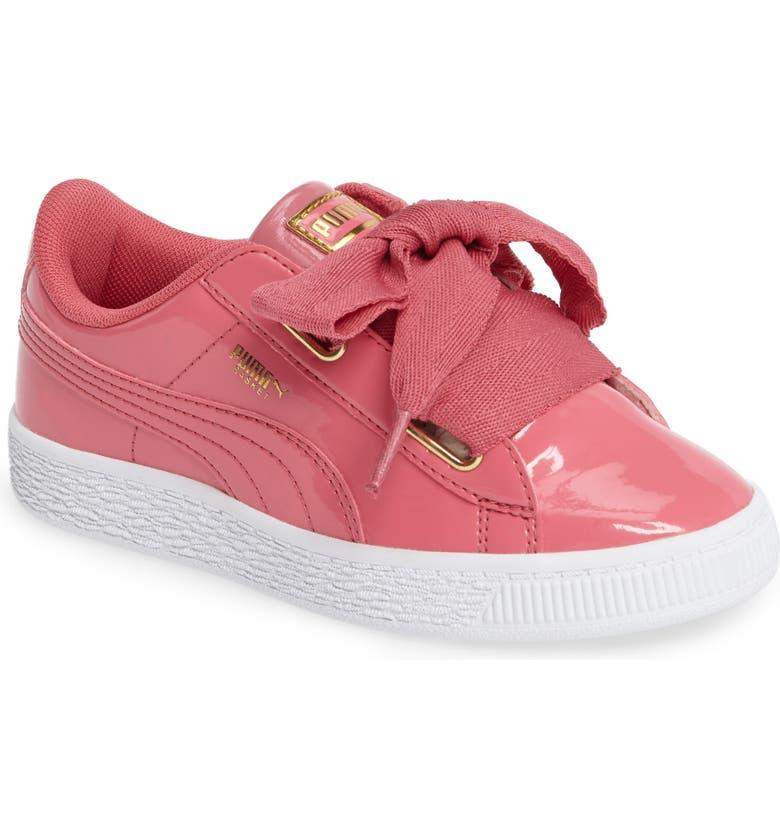 457f0f259fce6a PUMA Basket Heart Sneaker (Toddler