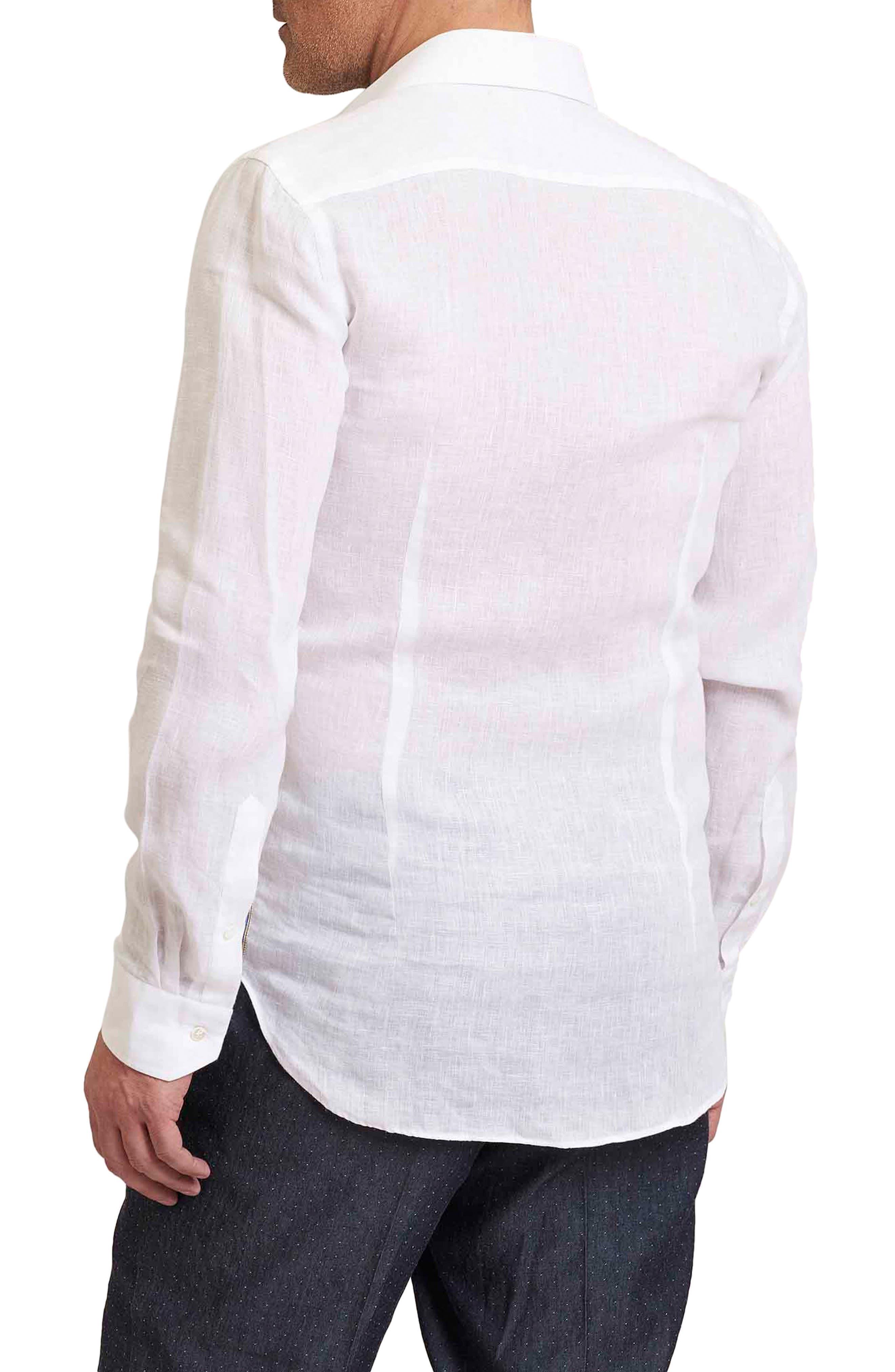 Delave Regular Fit Linen Sport Shirt,                             Alternate thumbnail 2, color,                             100