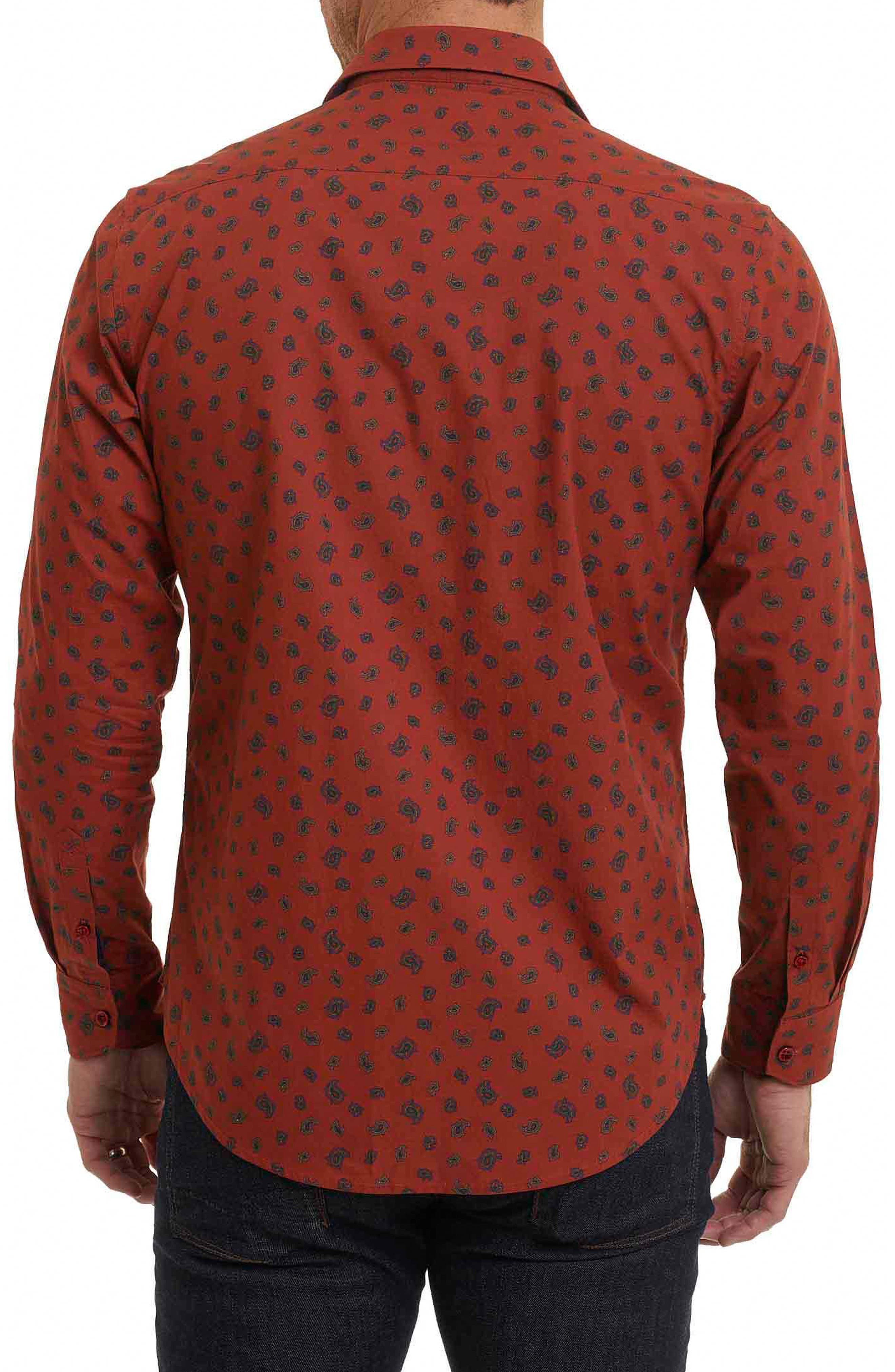 Cold Spring Classic Fit Paisley Sport Shirt,                             Alternate thumbnail 4, color,