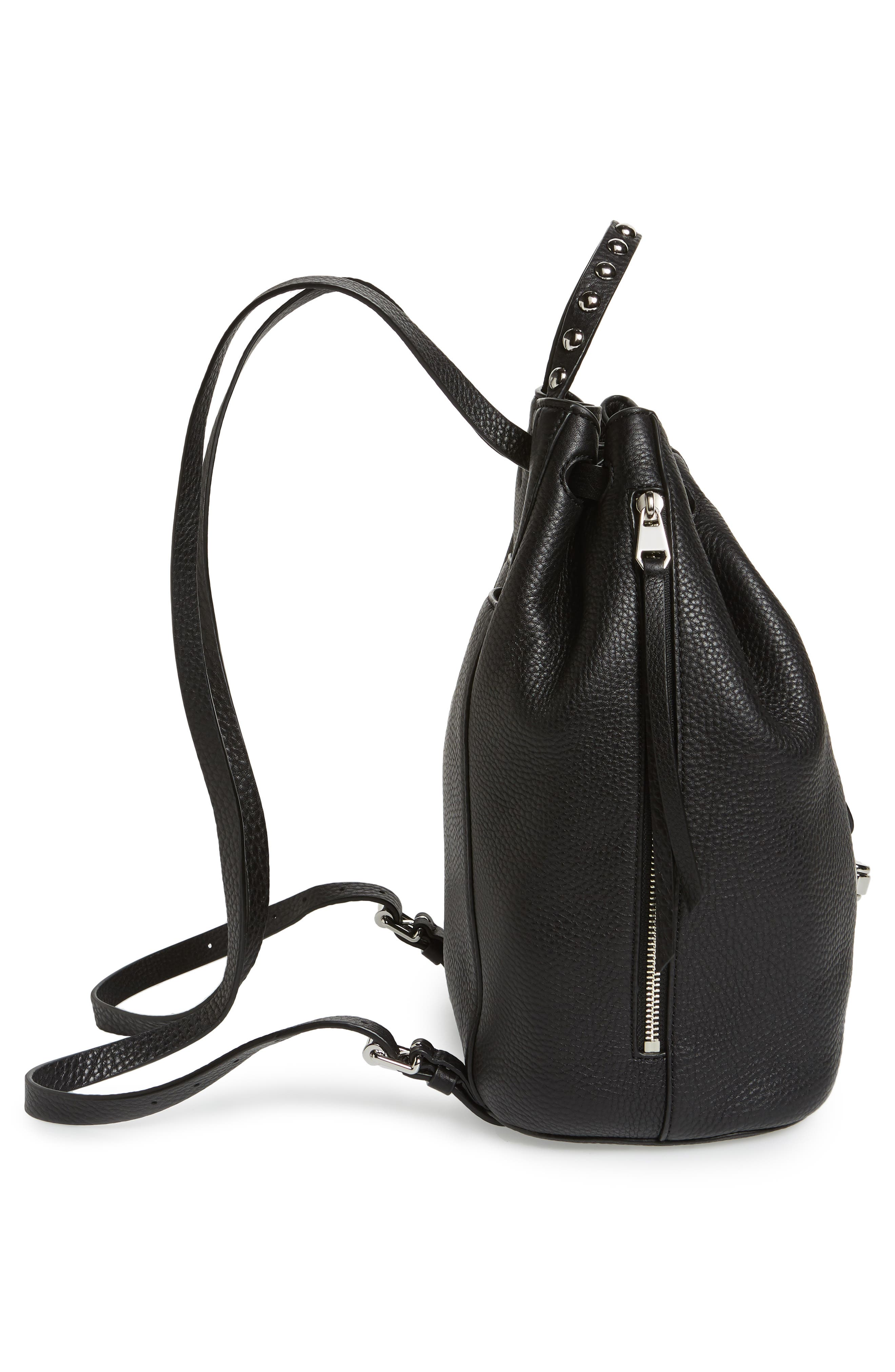 Blythe Leather Backpack,                             Alternate thumbnail 5, color,                             001