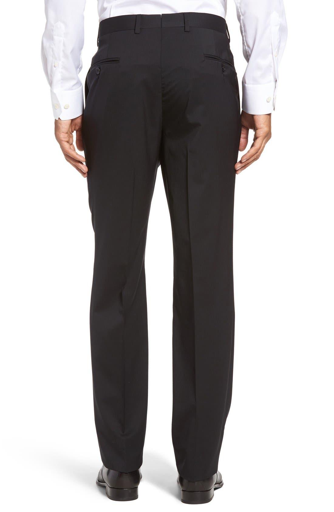 Ryan Regular Fit Wool Trousers,                             Alternate thumbnail 2, color,                             001