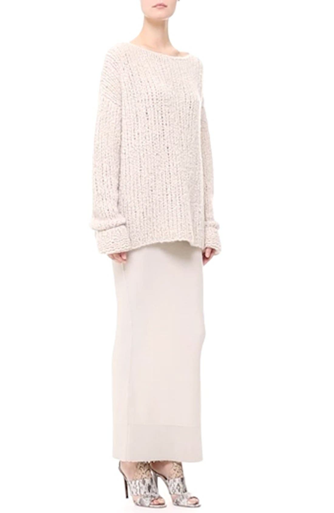 Donna KaranCollection Hand Knit Cashmere Sweater,                             Alternate thumbnail 4, color,                             282