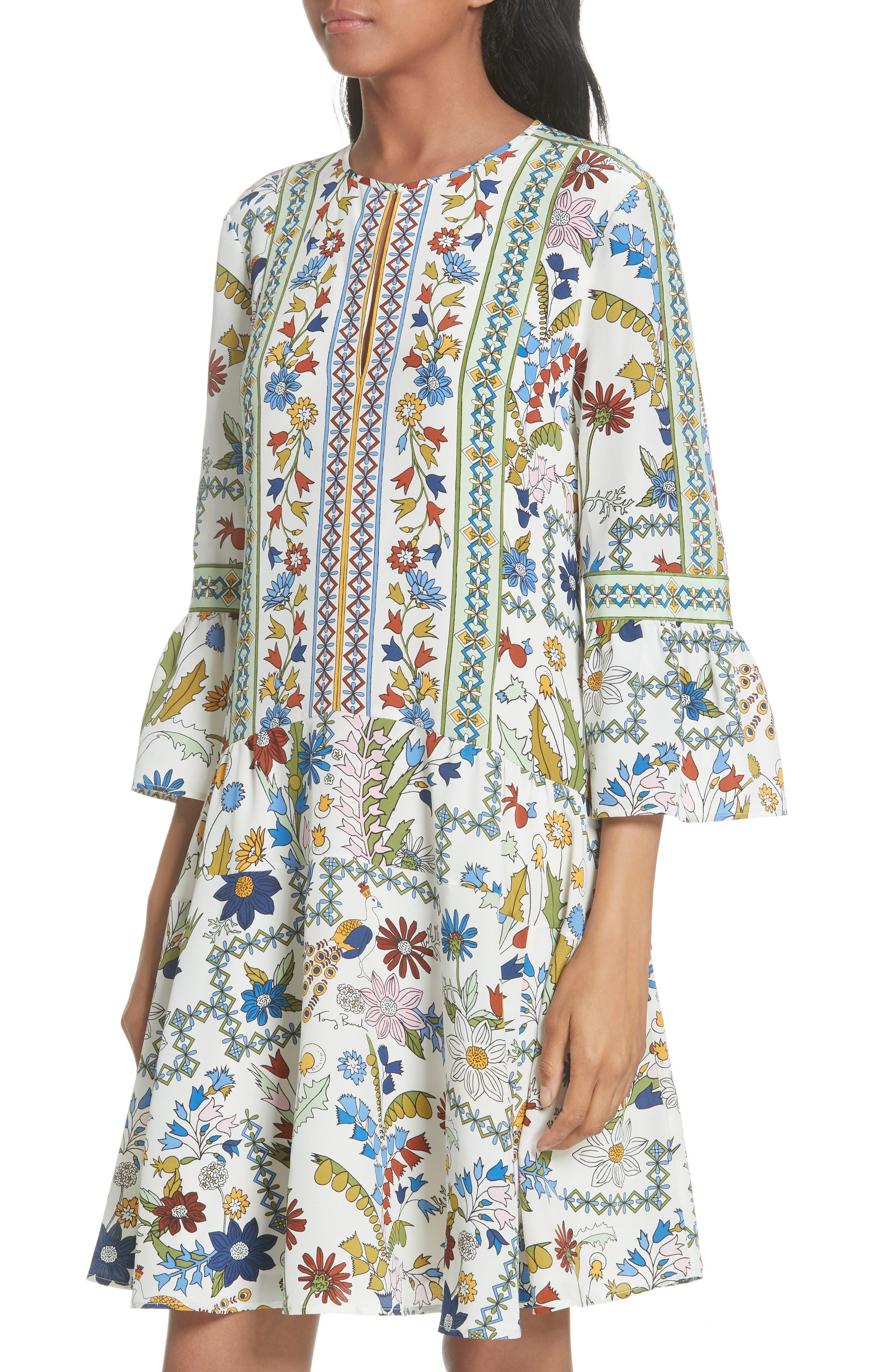 Daphne Silk Shift Dress,                             Alternate thumbnail 4, color,