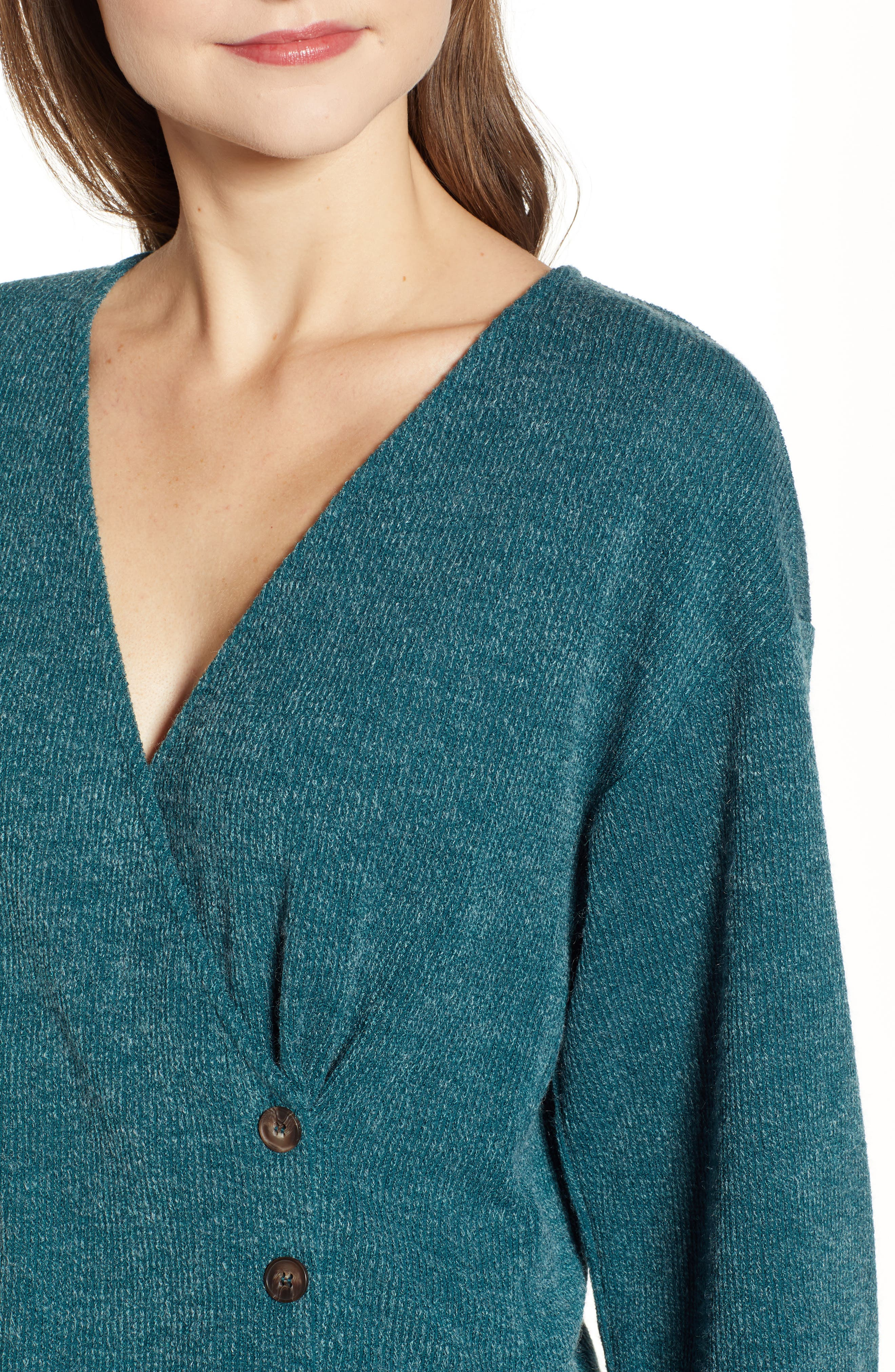 Wrap Sweater,                             Alternate thumbnail 4, color,                             TEAL