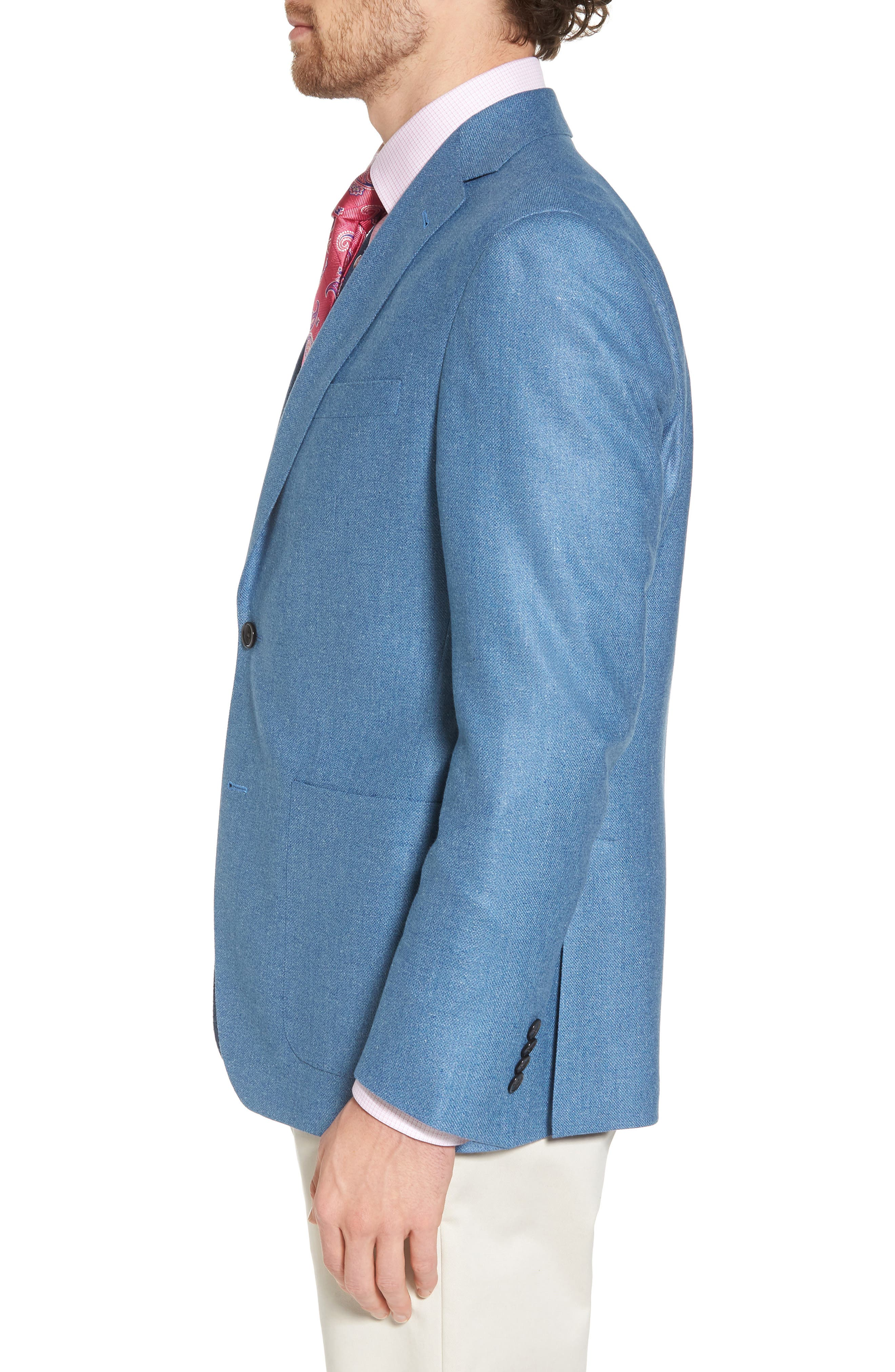 Aiden Classic Fit Silk & Wool Blazer,                             Alternate thumbnail 3, color,                             400