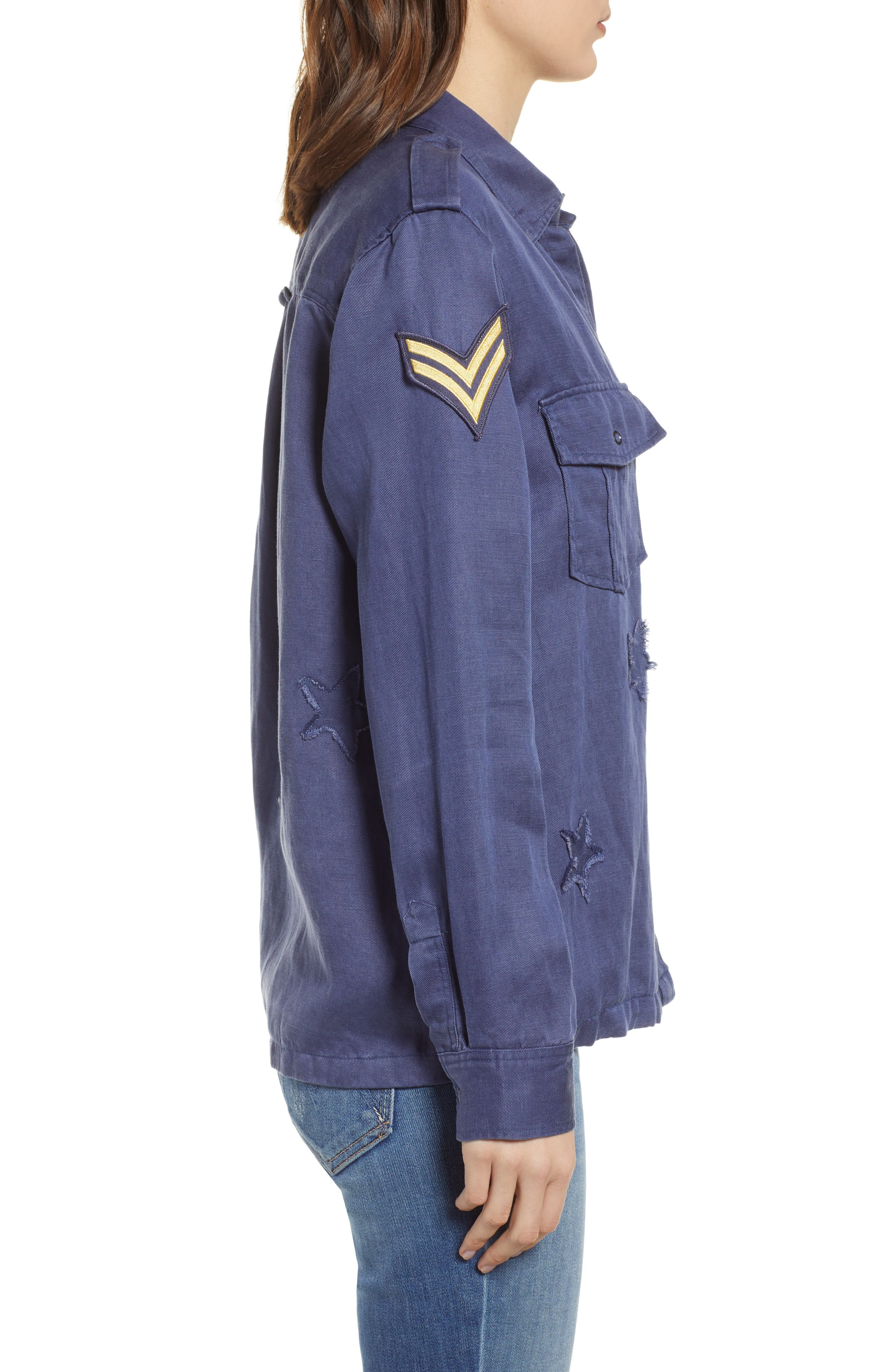 Kato Military Shirt,                             Alternate thumbnail 3, color,                             TOKYO BLUE